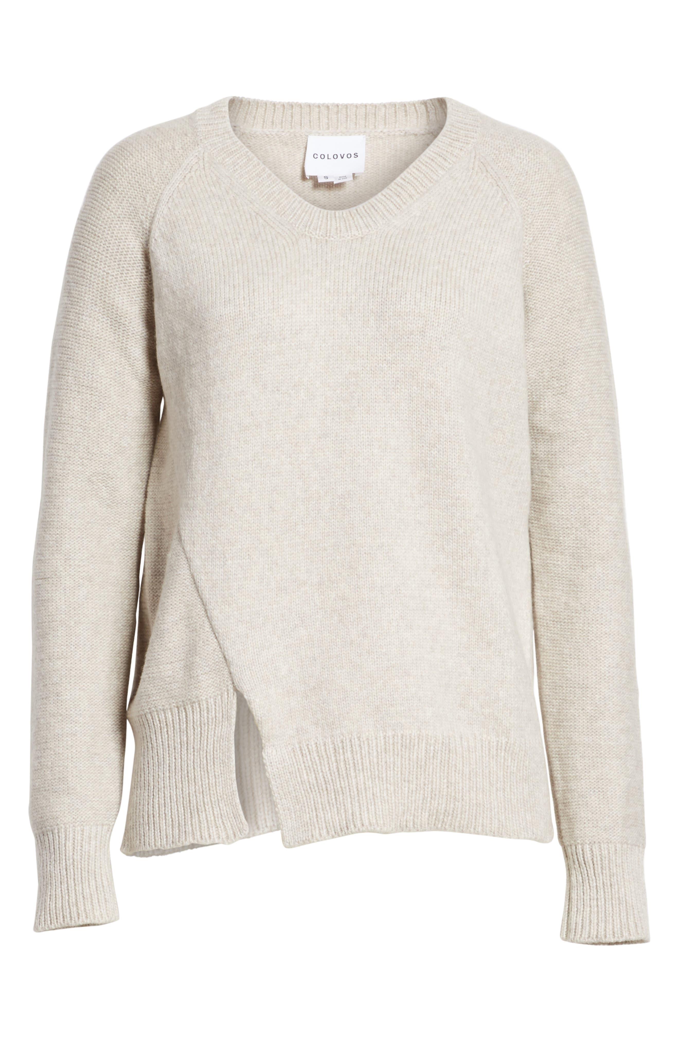 Asymmetrical Wide Neck Sweater,                             Alternate thumbnail 6, color,                             250