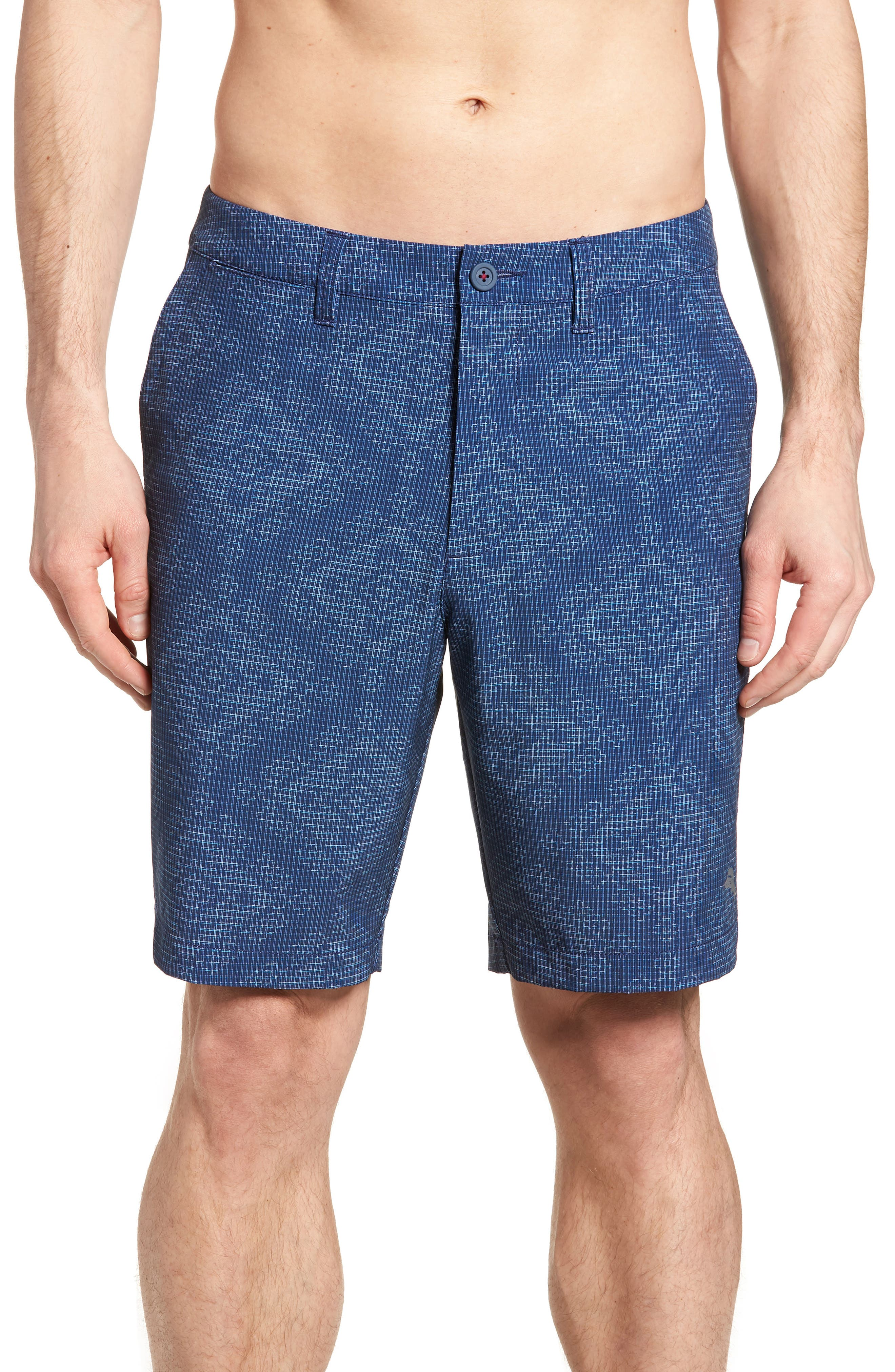 Bayman Geo De Mayo Hybrid Shorts,                         Main,                         color, THRONE BLUE
