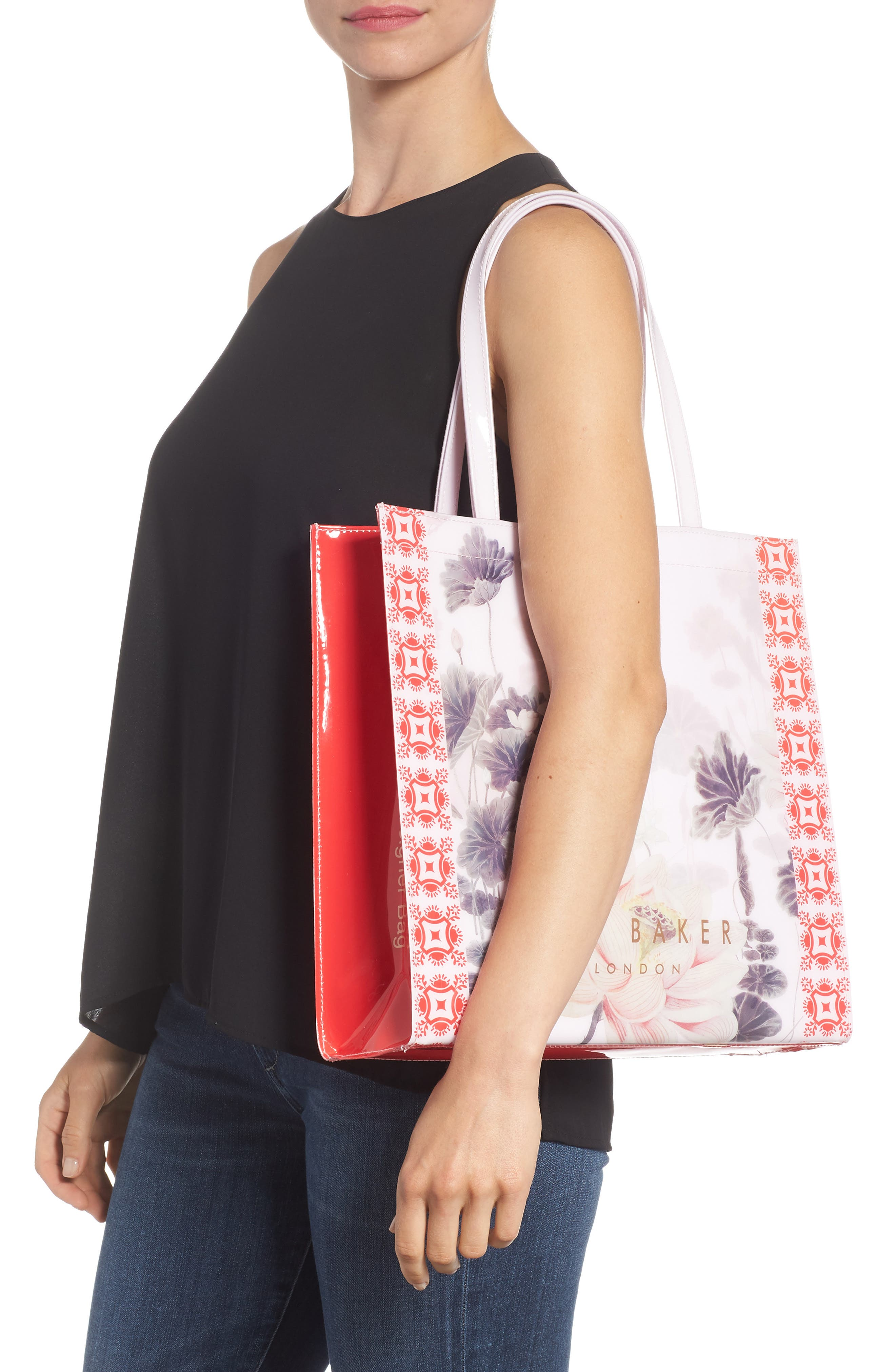 Lake of Dreams Large Icon Tote,                             Alternate thumbnail 2, color,                             DUSKY PINK