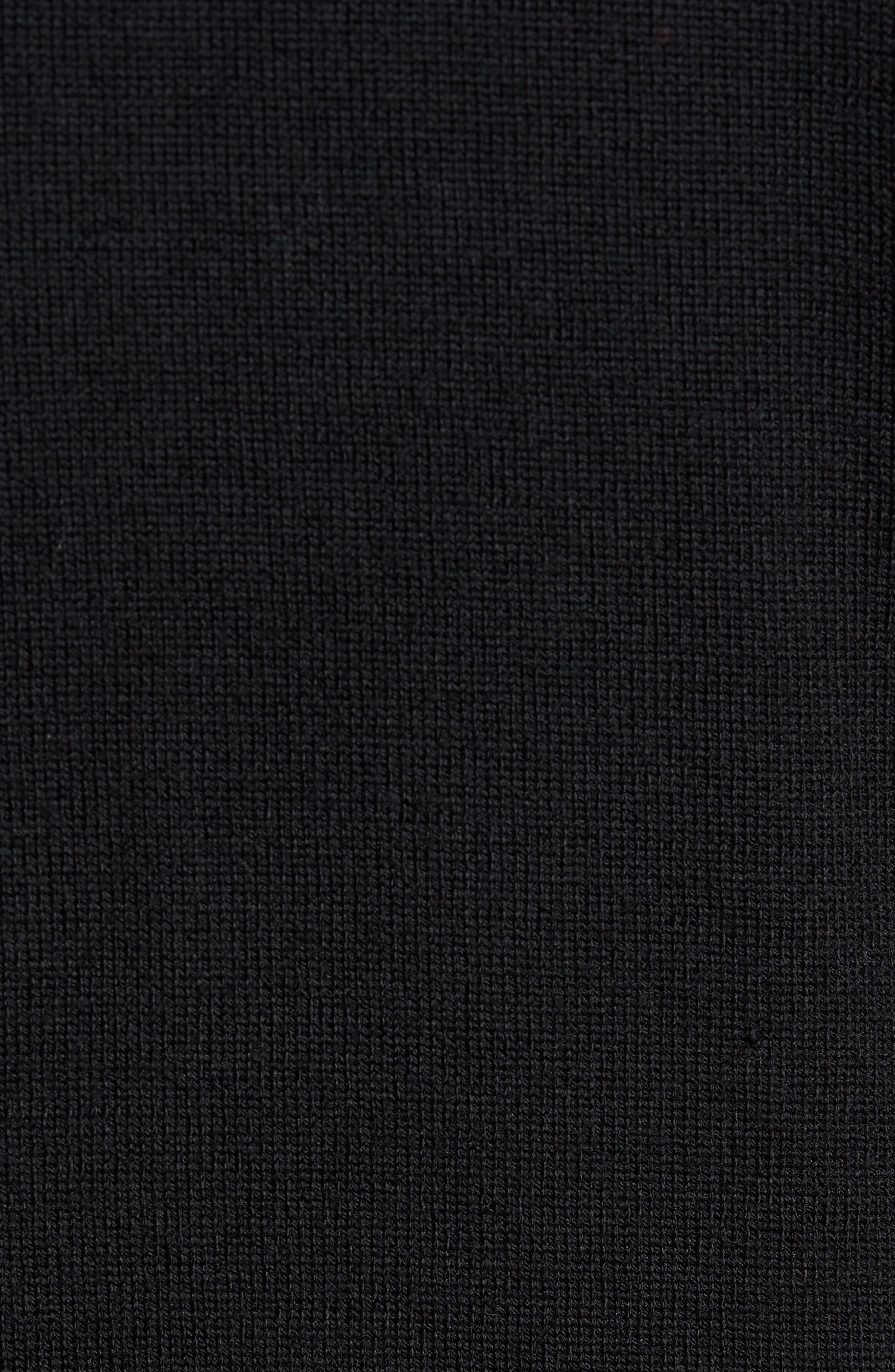 Regular Fit Merino Hooded Sweater,                             Alternate thumbnail 5, color,                             001