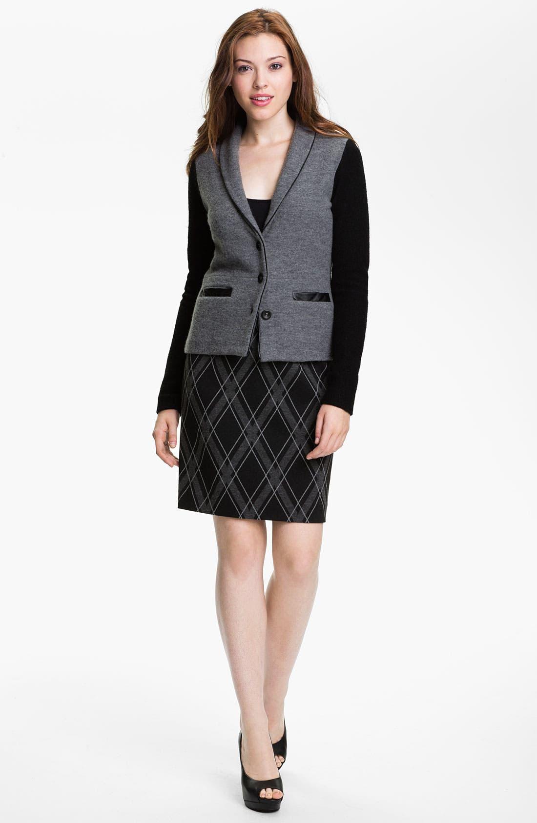 HALOGEN<SUP>®</SUP>,                             Boiled Wool Jacket,                             Alternate thumbnail 5, color,                             020