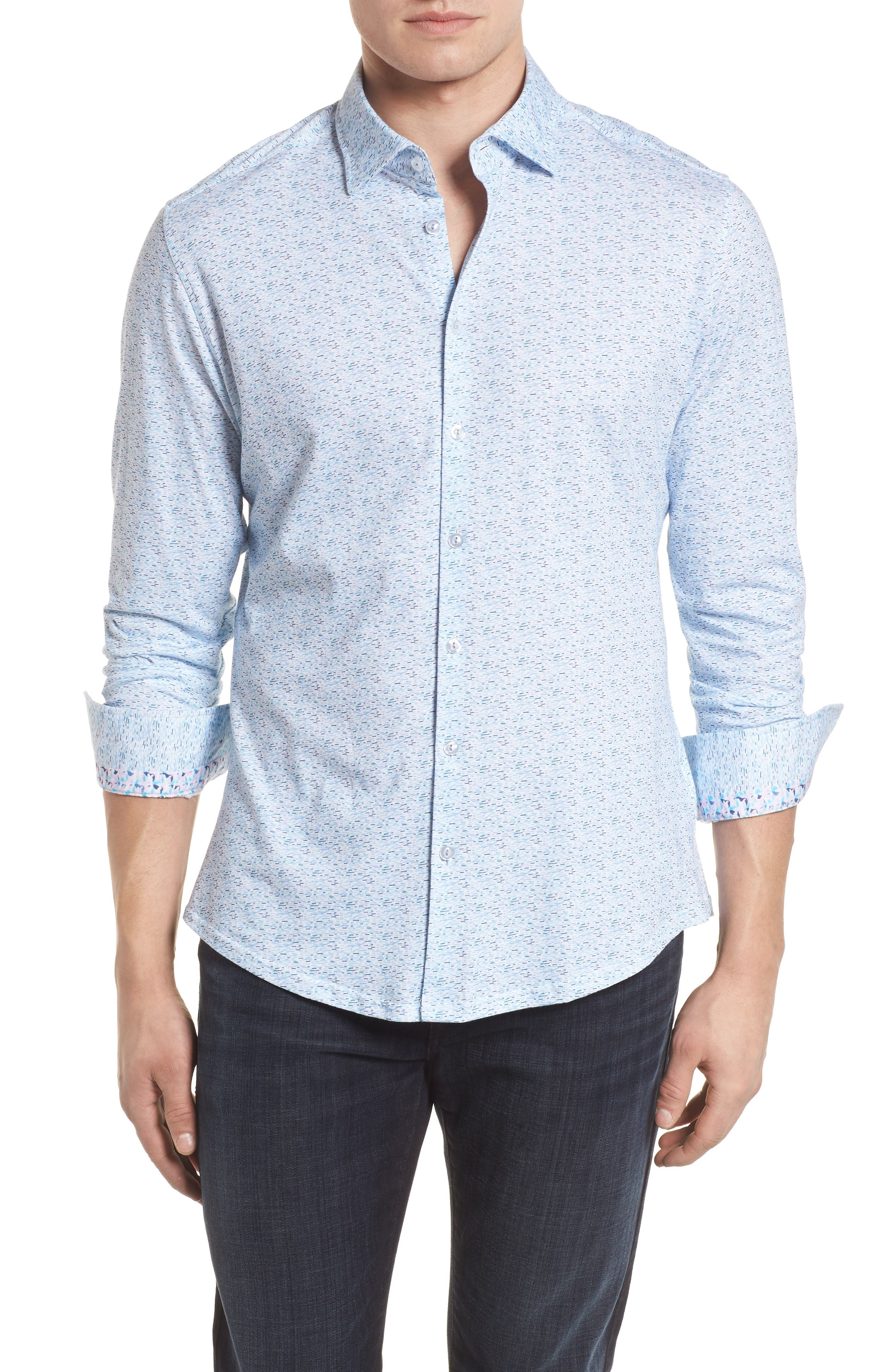 STONE ROSE,                             Contemporary Fit Print Sport Shirt,                             Main thumbnail 1, color,                             400