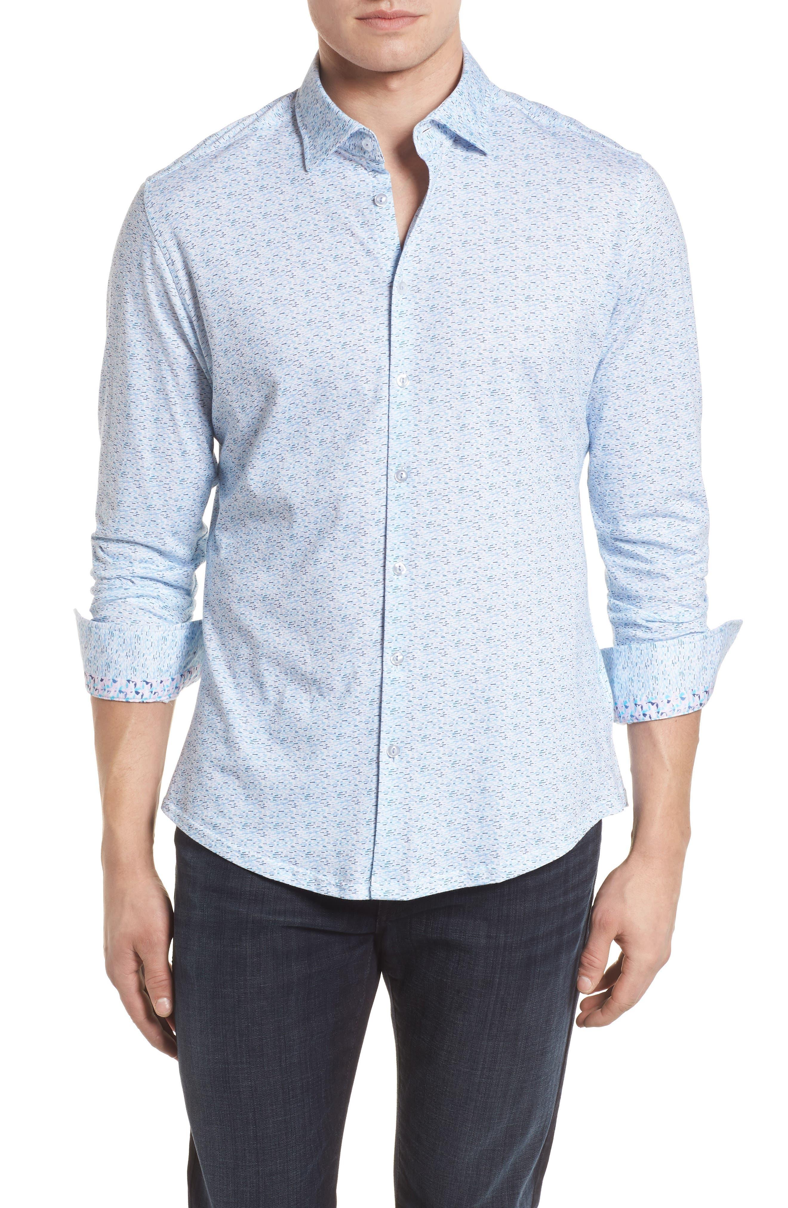 STONE ROSE Contemporary Fit Print Sport Shirt, Main, color, 400
