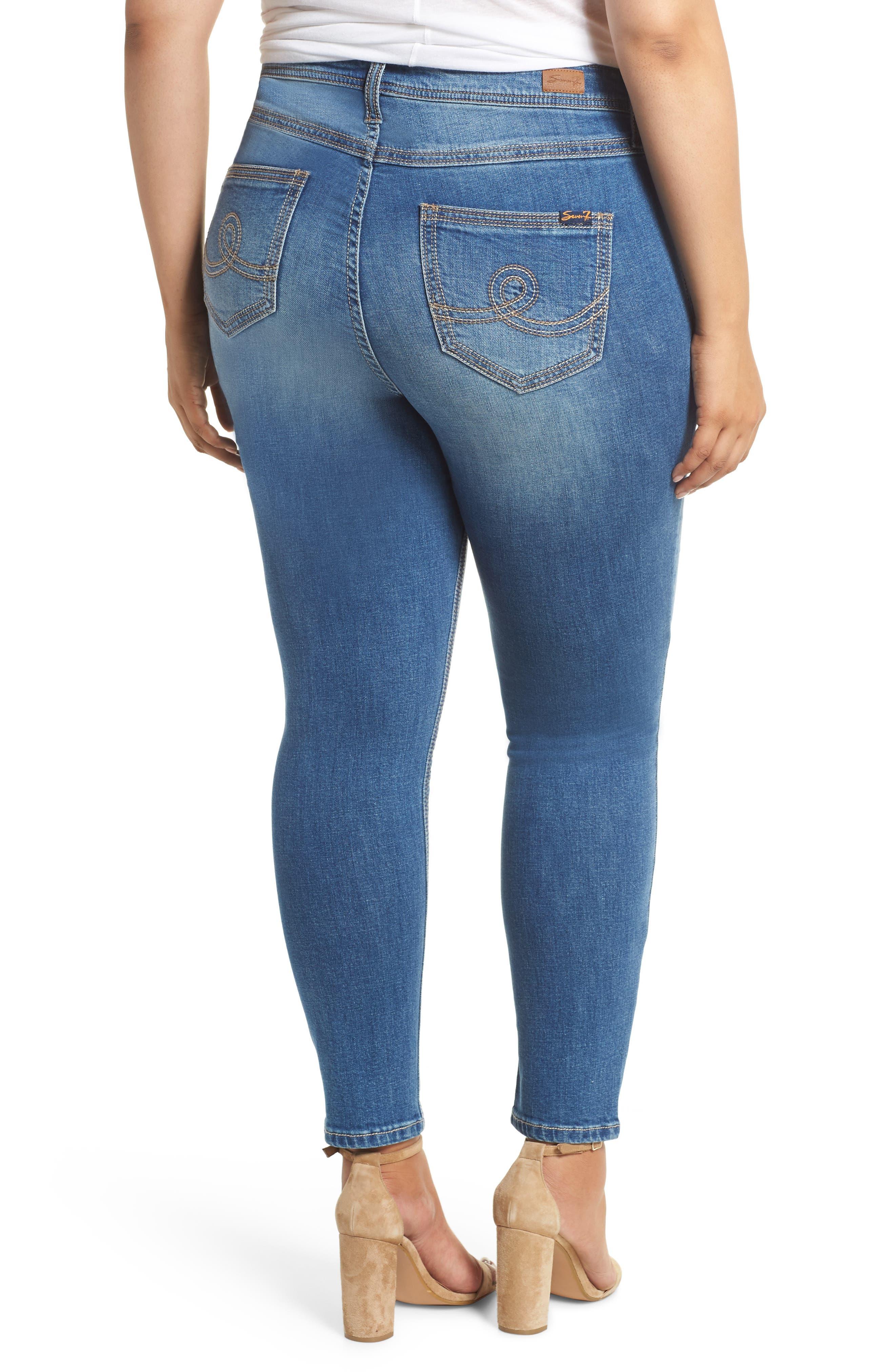 Rocker Skinny Jeans,                             Alternate thumbnail 2, color,                             LADYBIRD