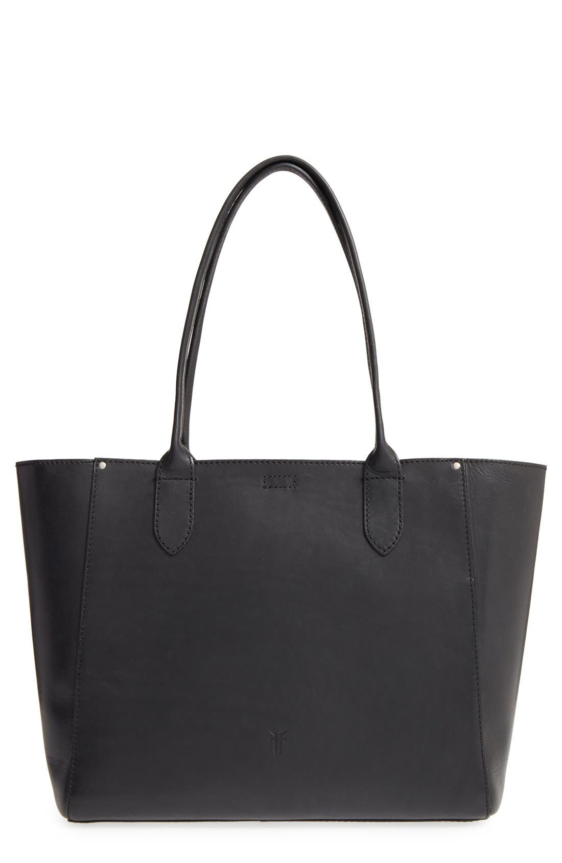 FRYE,                             'Casey' Leather Tote,                             Main thumbnail 1, color,                             001