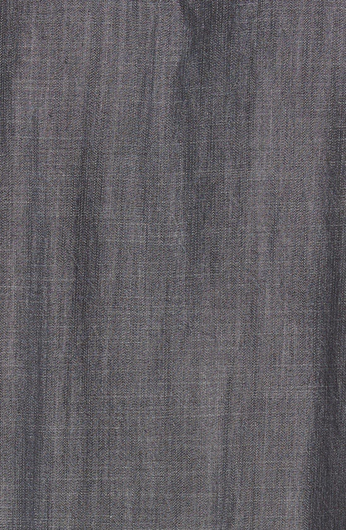 Gathered Chambray Skirt,                             Alternate thumbnail 3, color,                             001