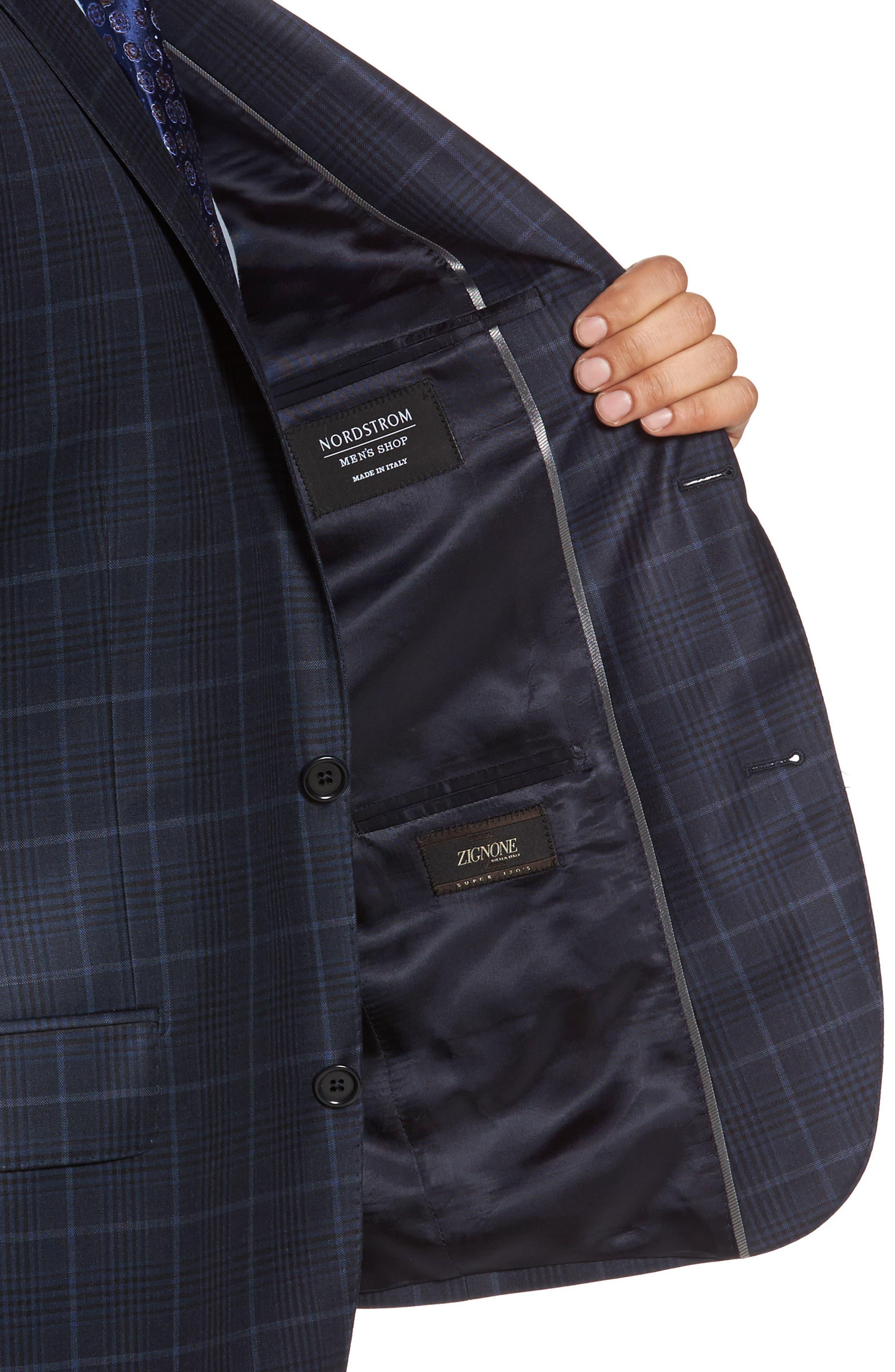 Classic Fit Plaid Wool Sport Coat,                             Alternate thumbnail 4, color,                             410