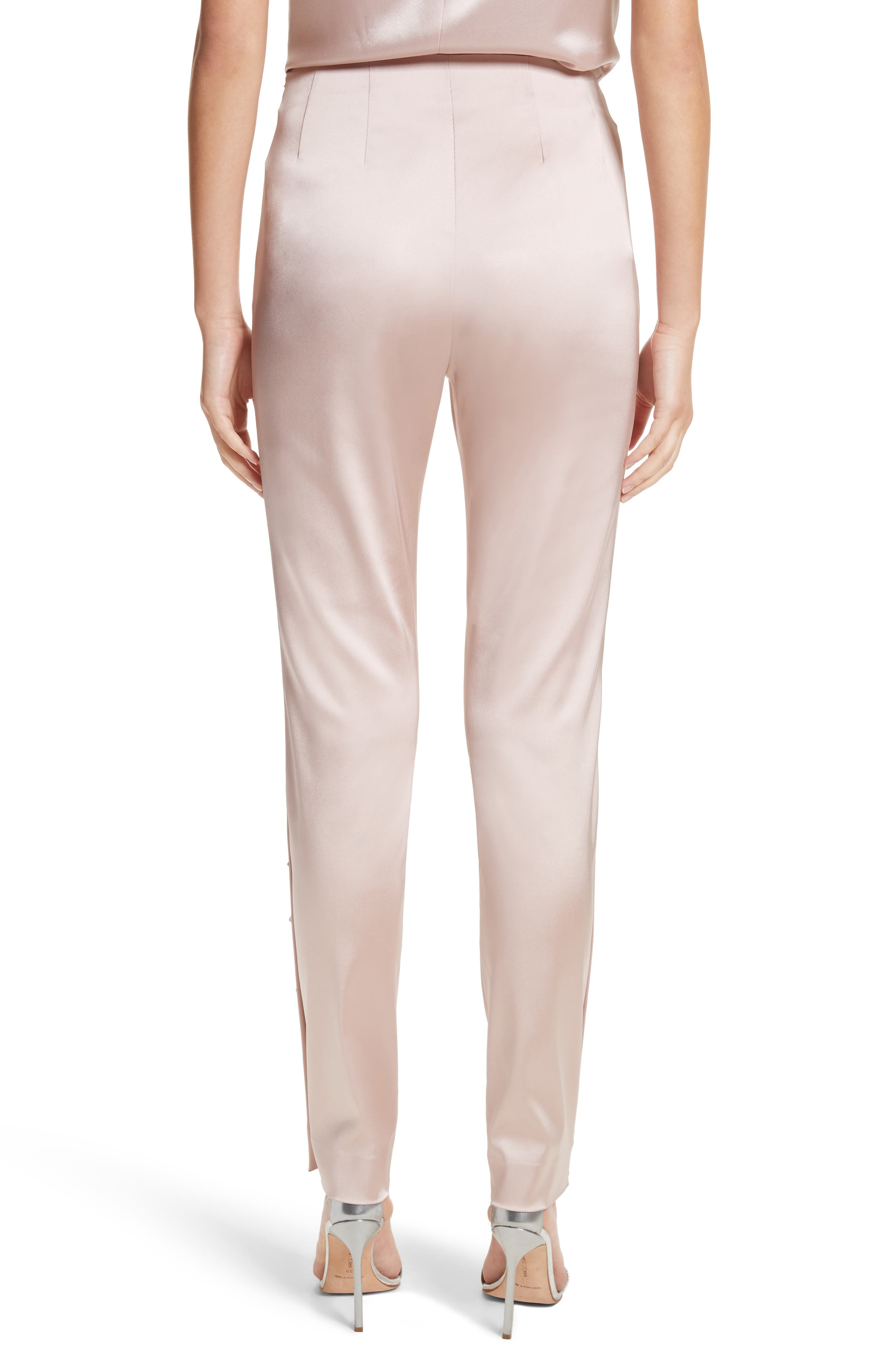 Stretch Satin Ankle Pants,                             Alternate thumbnail 2, color,                             680