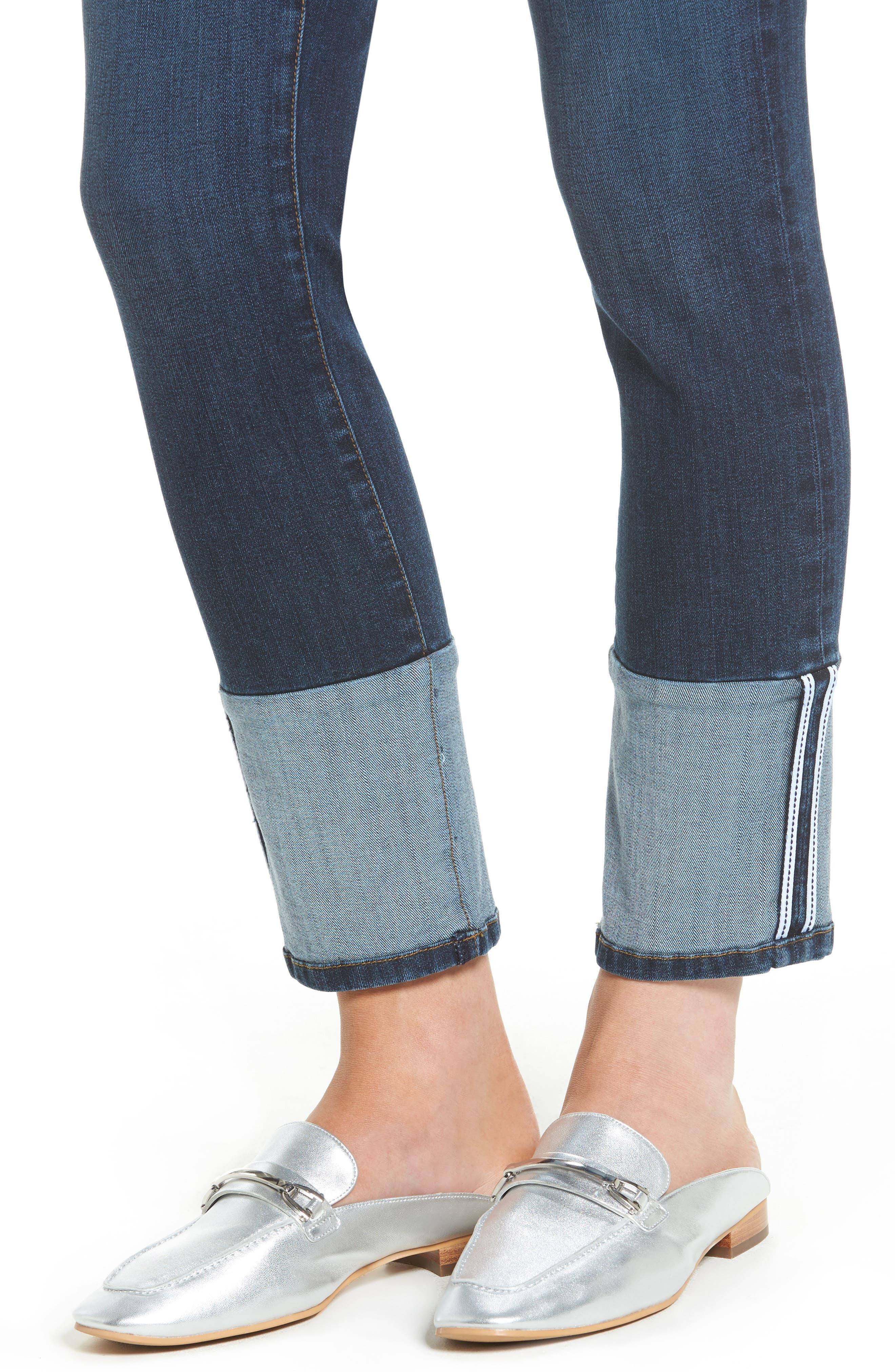 Reese Straight Leg Jeans,                             Alternate thumbnail 4, color,