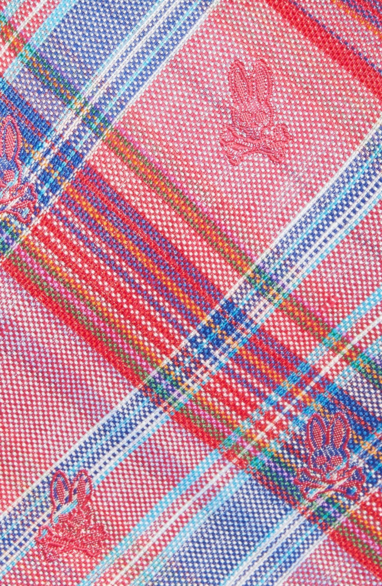 Plaid Bunny Silk Tie,                             Alternate thumbnail 4, color,