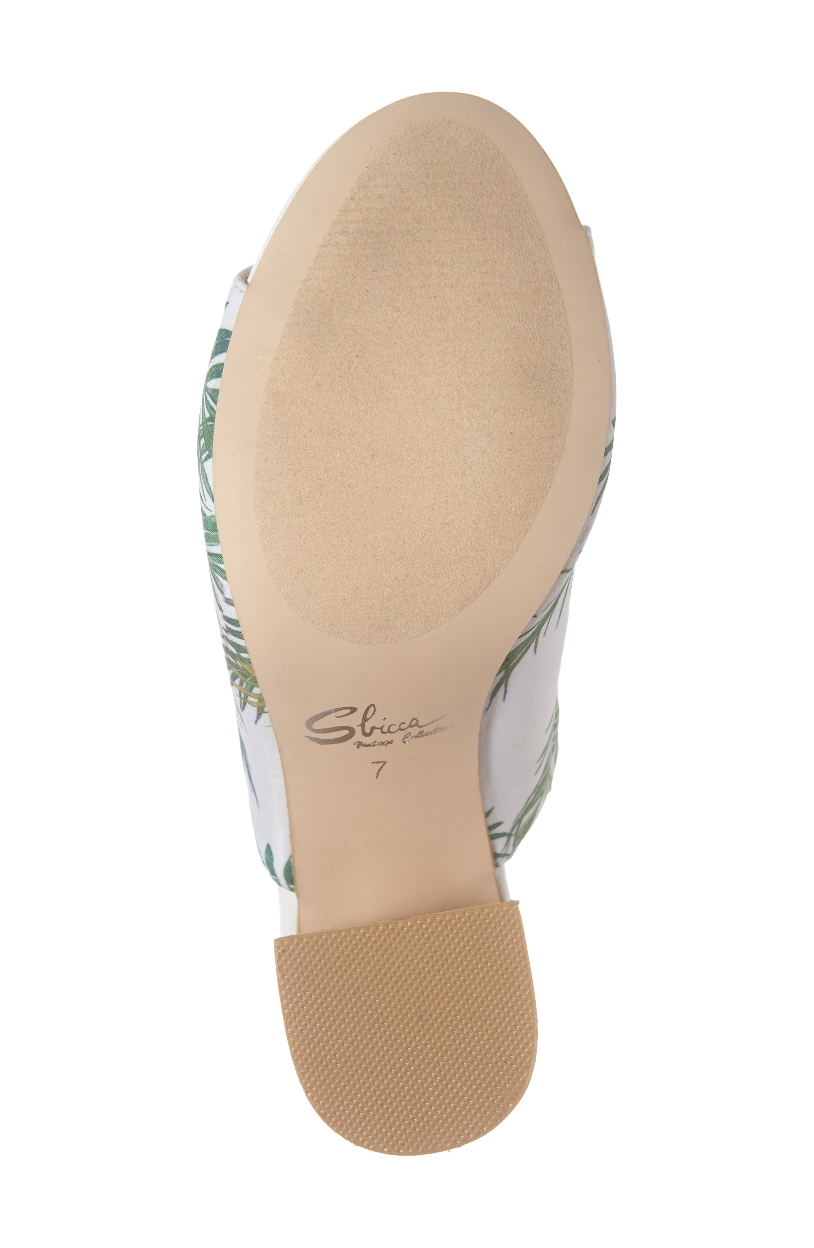 SBICCA,                             Shaden Mule,                             Alternate thumbnail 6, color,                             WHITE MULTICOLOR FABRIC