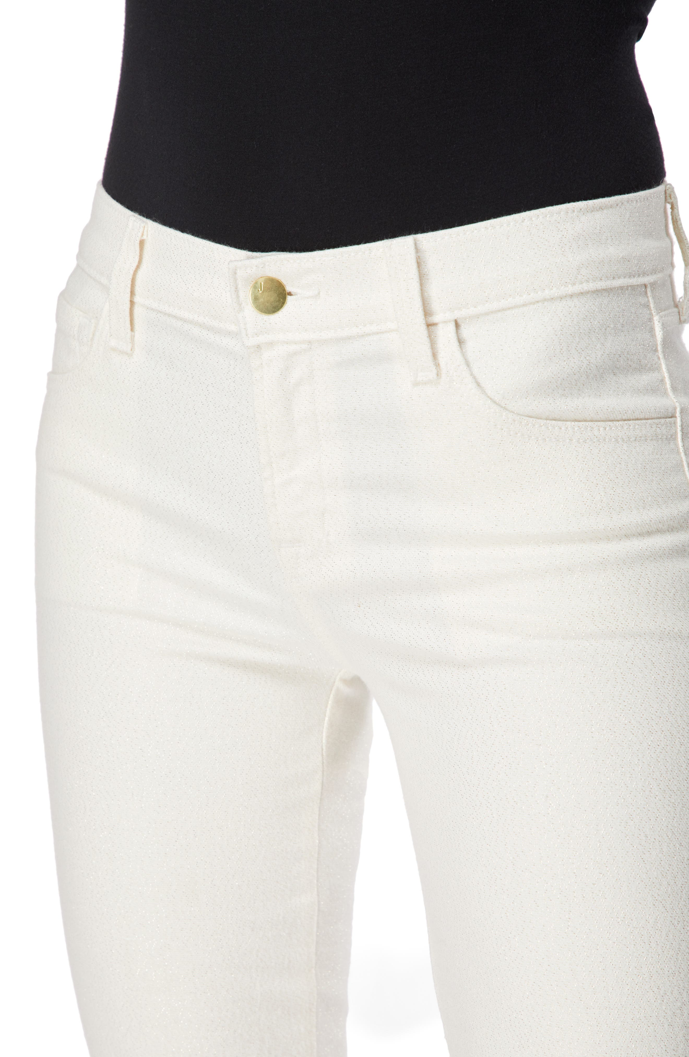 Selena Crop Bootcut Jeans,                             Alternate thumbnail 4, color,                             GLIMMER