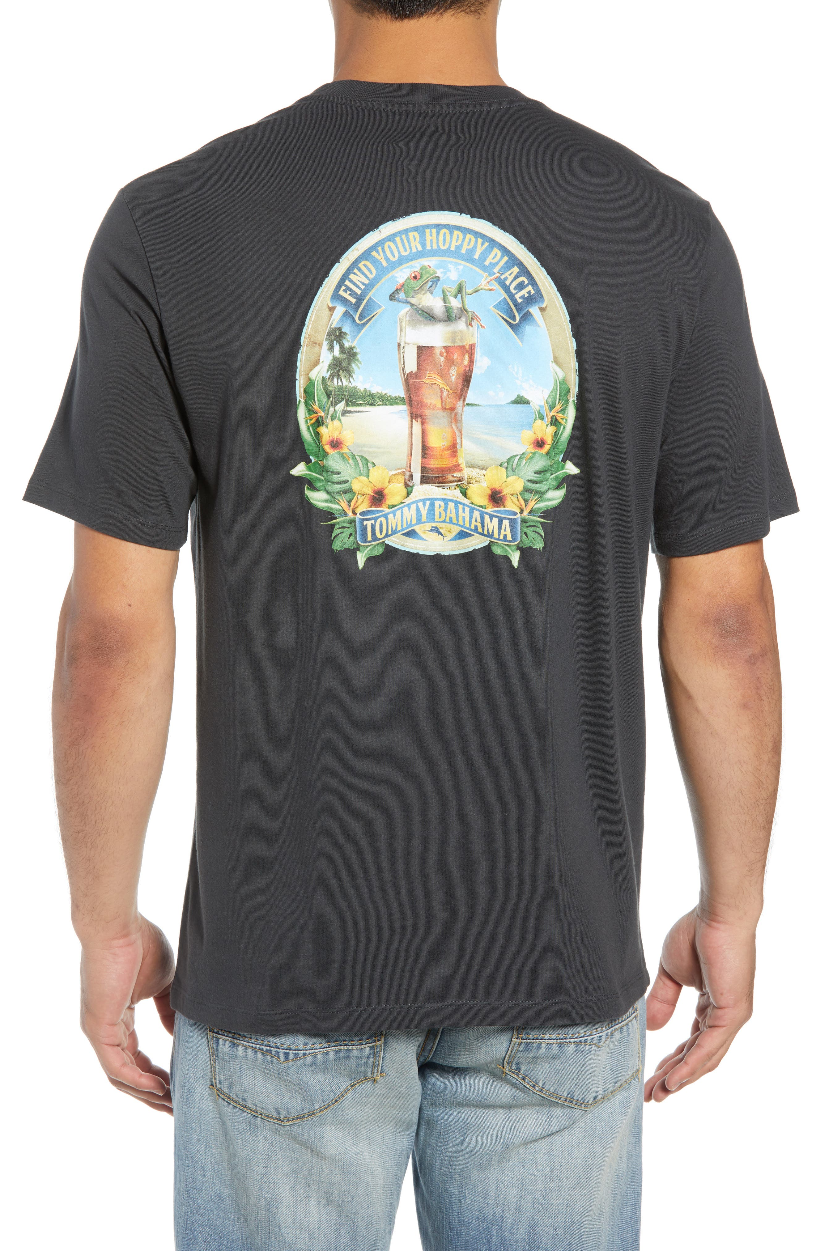 TOMMY BAHAMA,                             Find your Hoppy Place T-Shirt,                             Alternate thumbnail 2, color,                             001