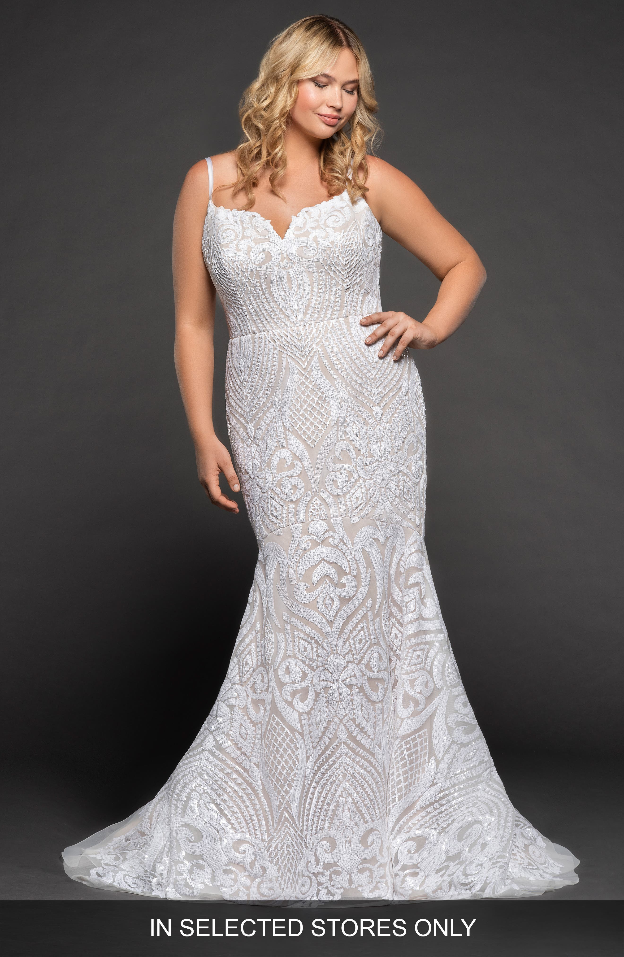 West Mermaid Gown,                         Main,                         color, SOLID IVORY