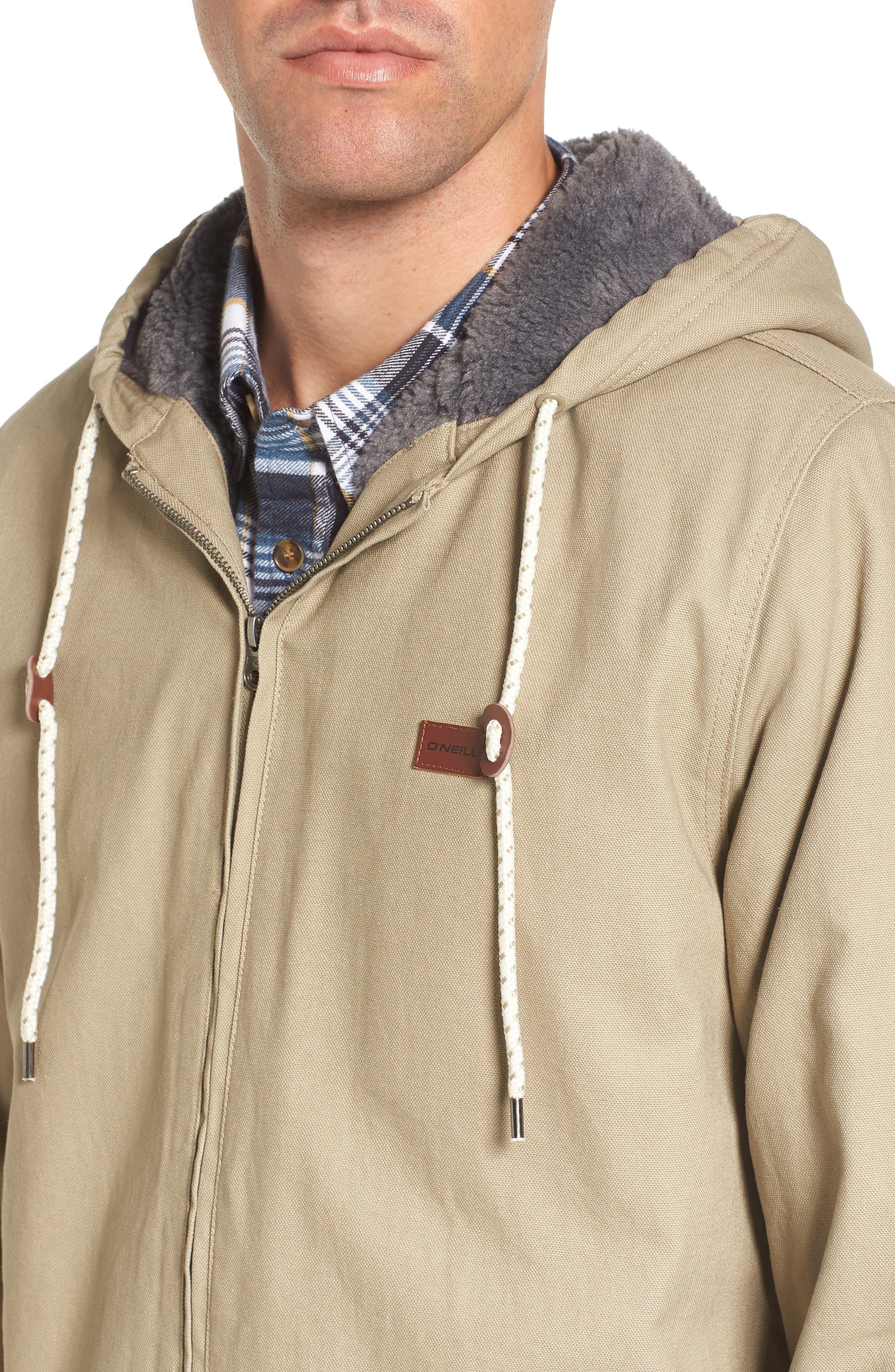 Colton Faux Shearling Trim Hooded Jacket,                             Alternate thumbnail 4, color,                             251