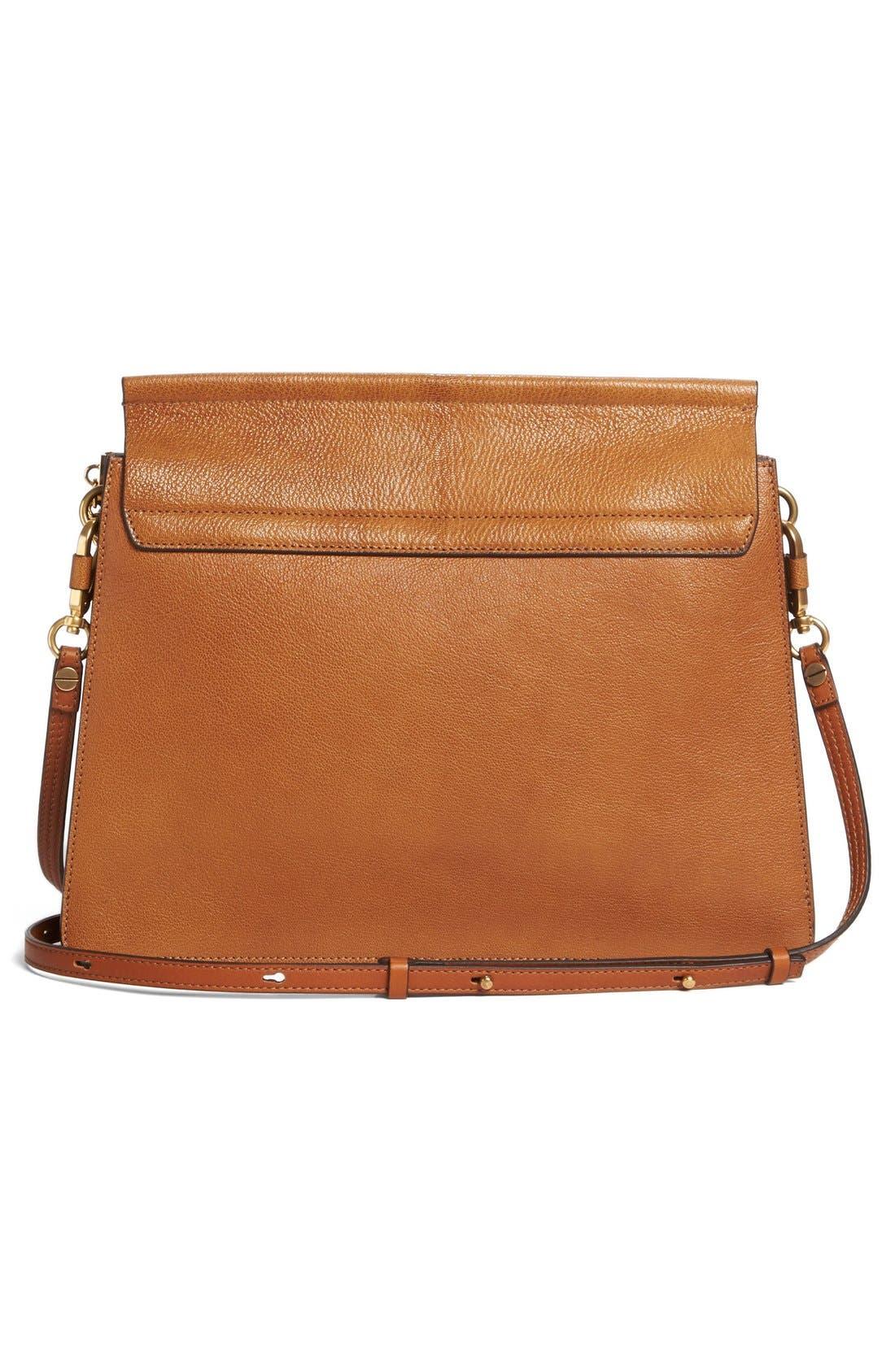 Faye Goatskin Leather Shoulder Bag,                             Alternate thumbnail 3, color,