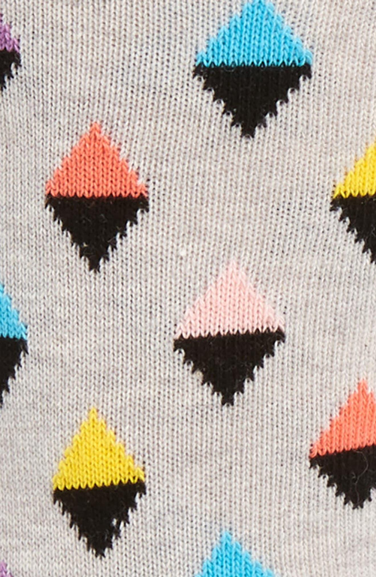 Mini Diamond Cotton Blend Socks,                             Alternate thumbnail 4, color,