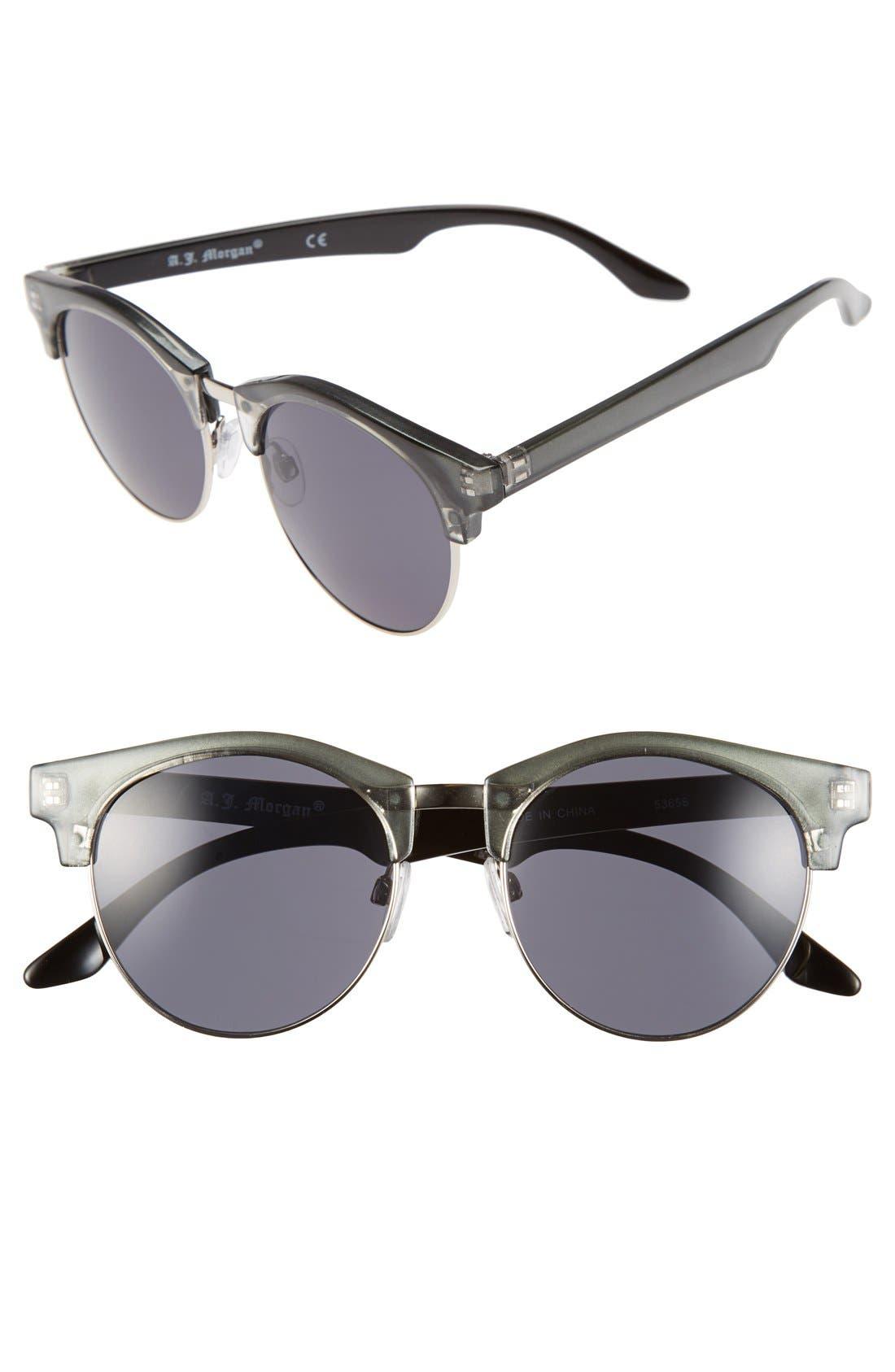 A.J. MORGAN 'Tippy' 50mm Sunglasses, Main, color, 020