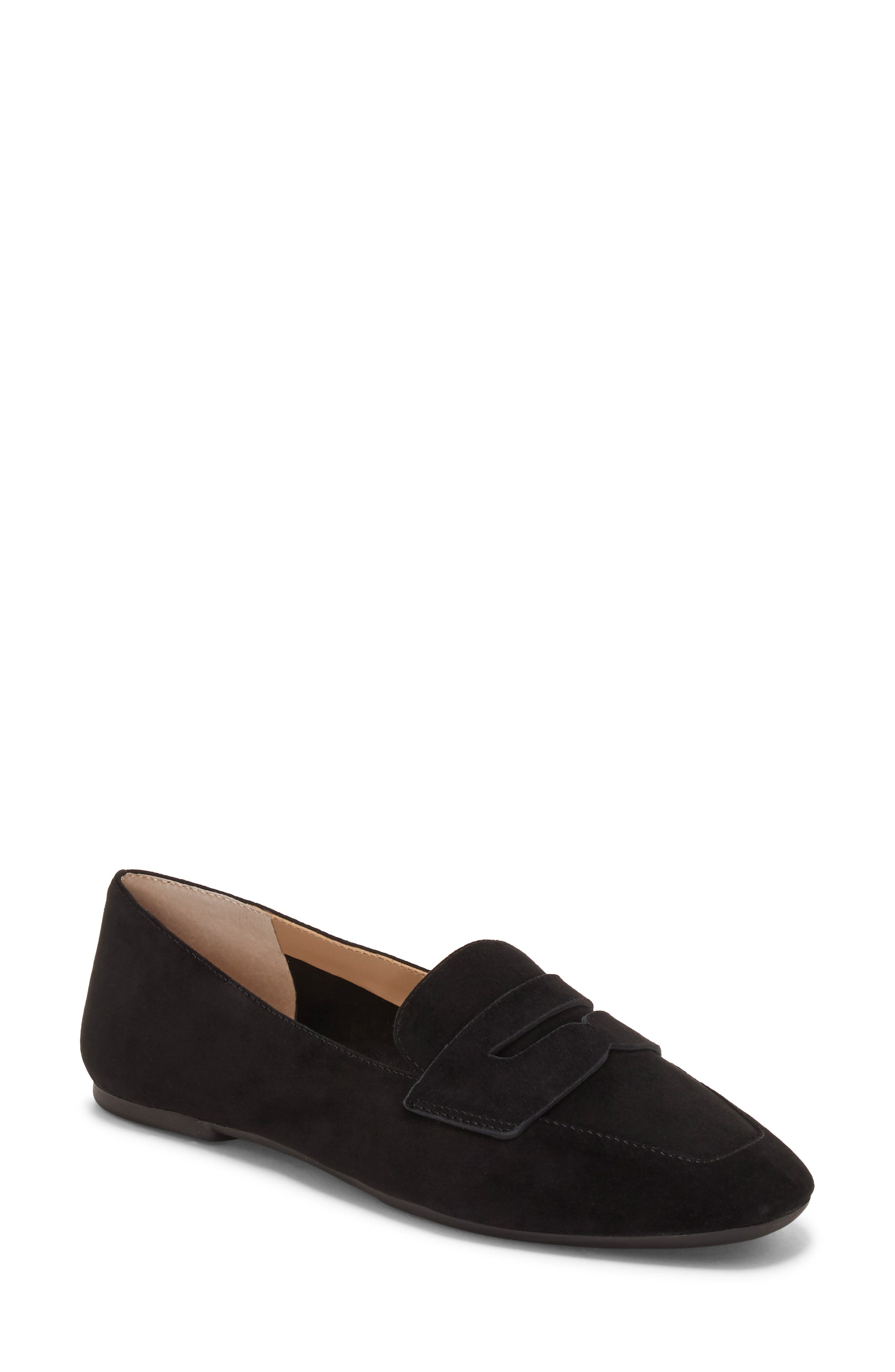 ENZO ANGIOLINI,                             Leeba Loafer,                             Main thumbnail 1, color,                             BLACK SUEDE