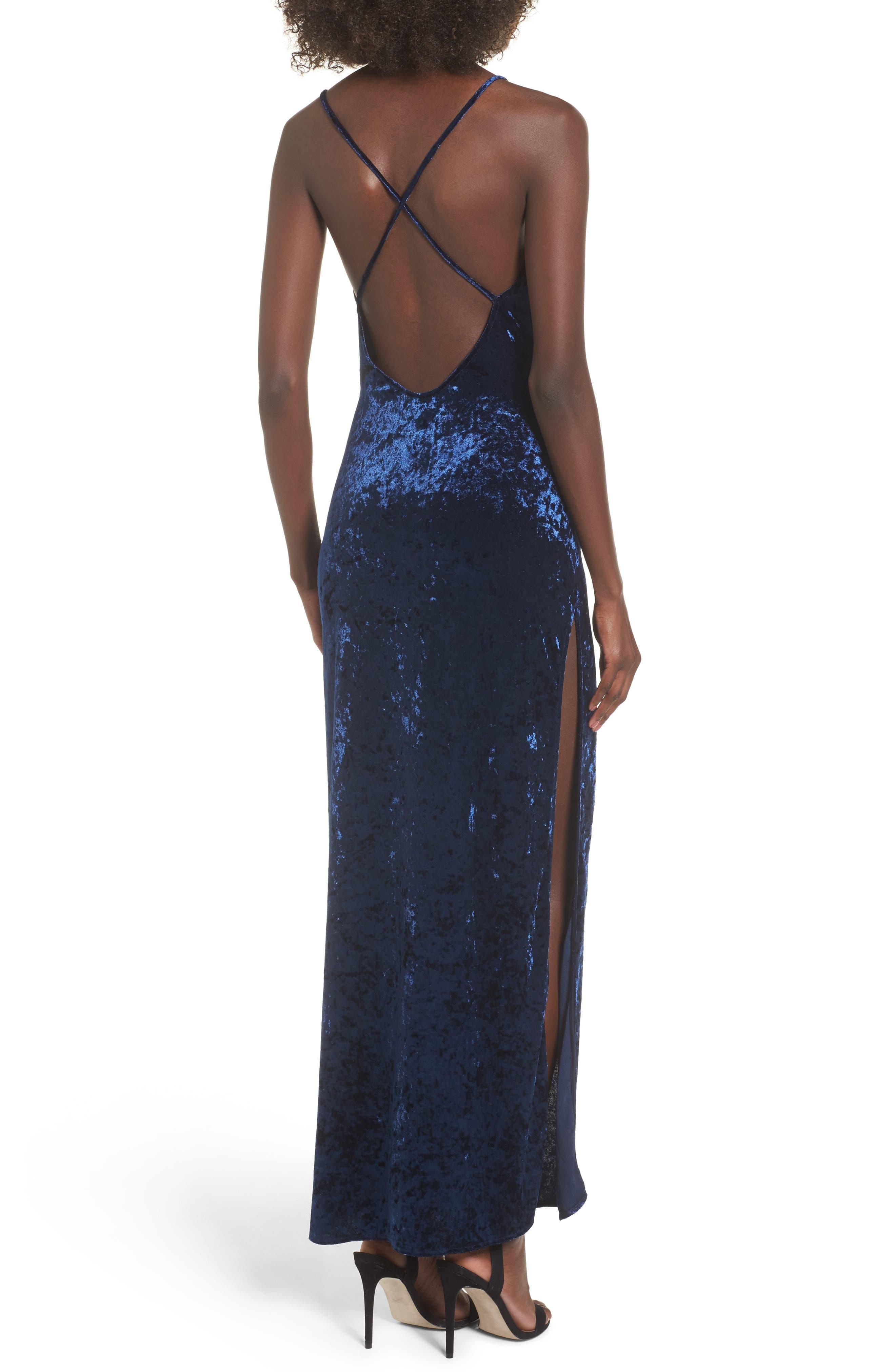 In the Deep Velvet Maxi Dress,                             Alternate thumbnail 4, color,