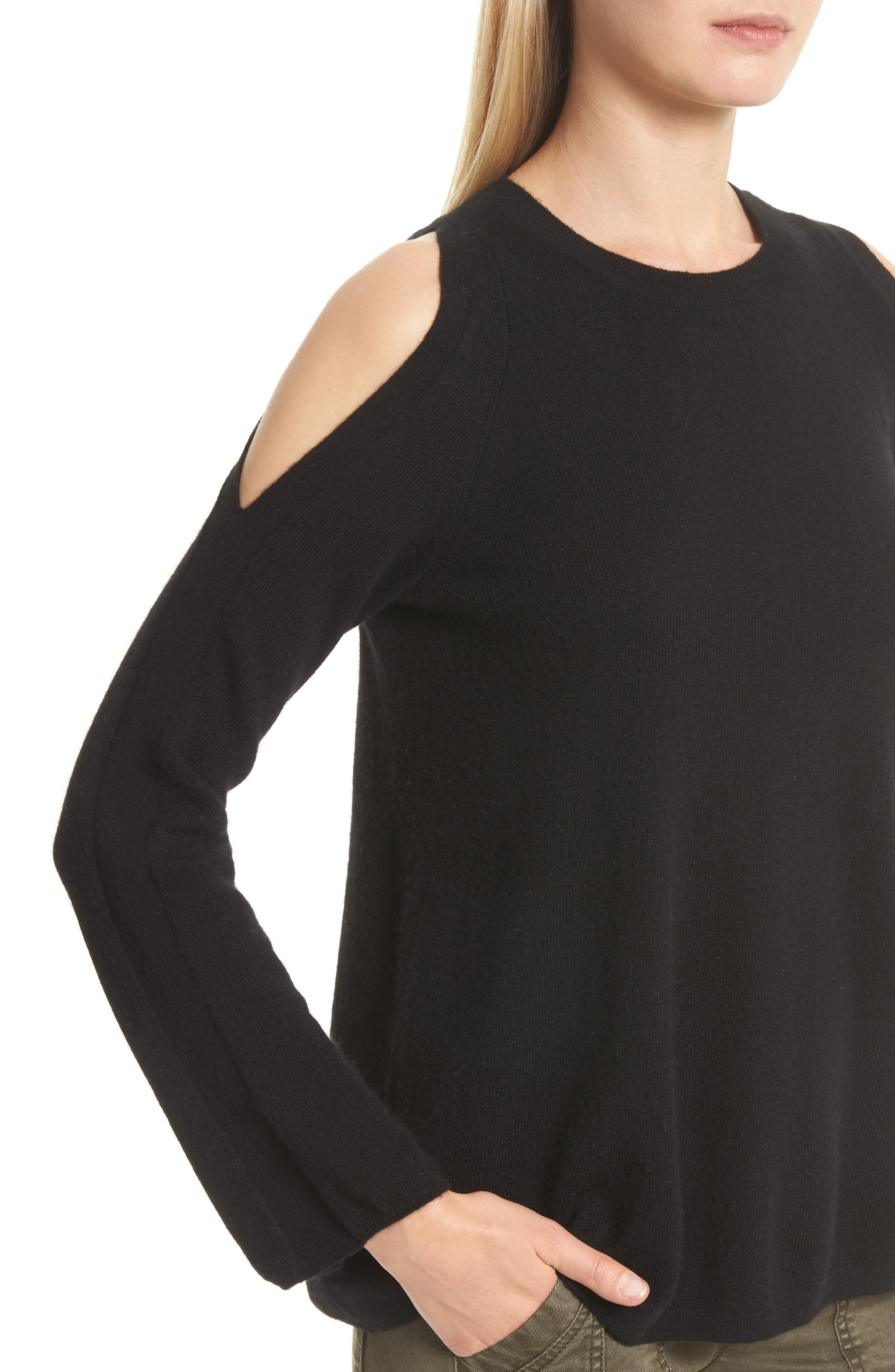 Amalyn Cold Shoulder Wool & Cashmere Sweater,                             Alternate thumbnail 10, color,
