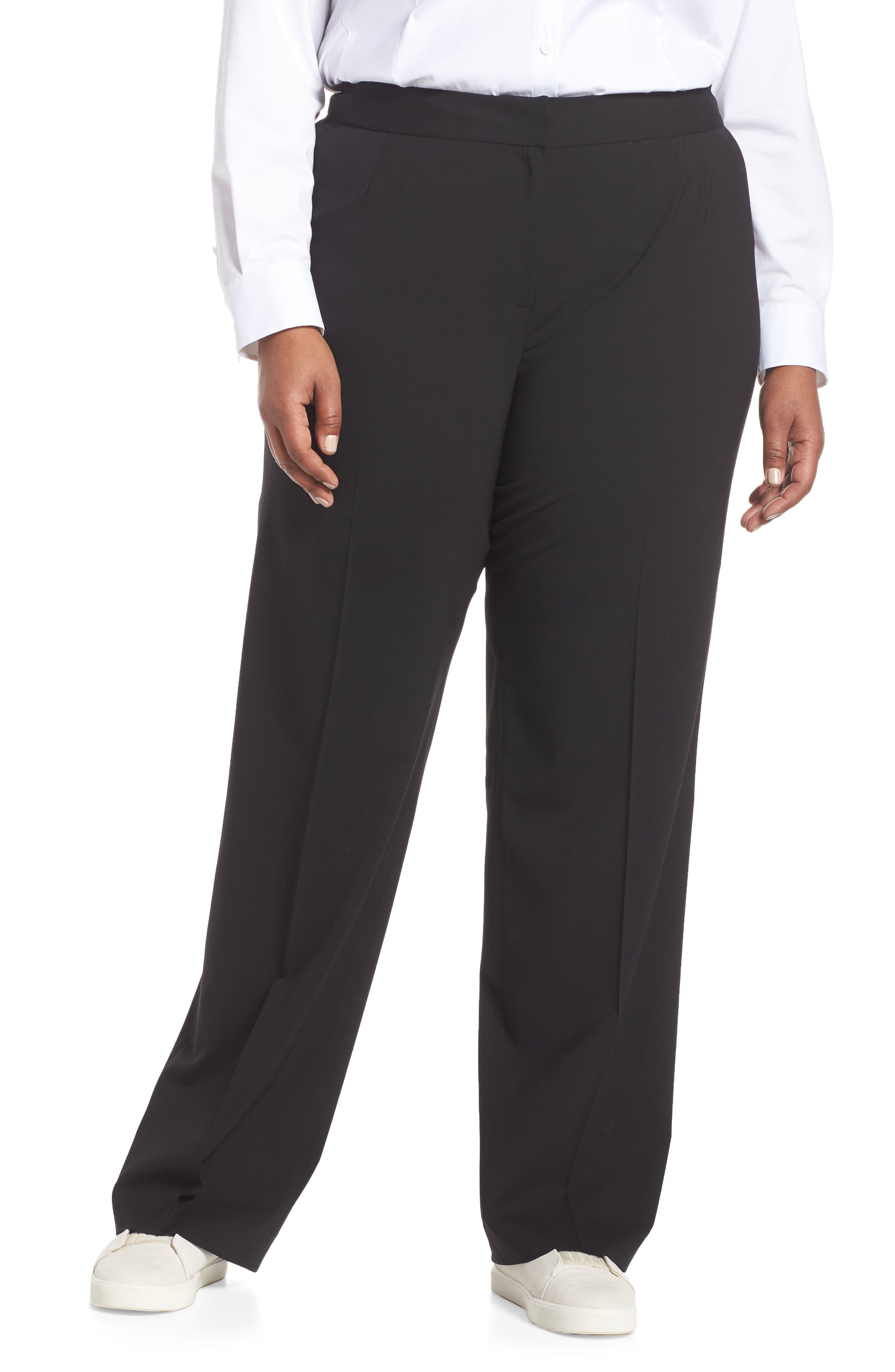 Menswear Trousers,                             Alternate thumbnail 2, color,                             BLACK