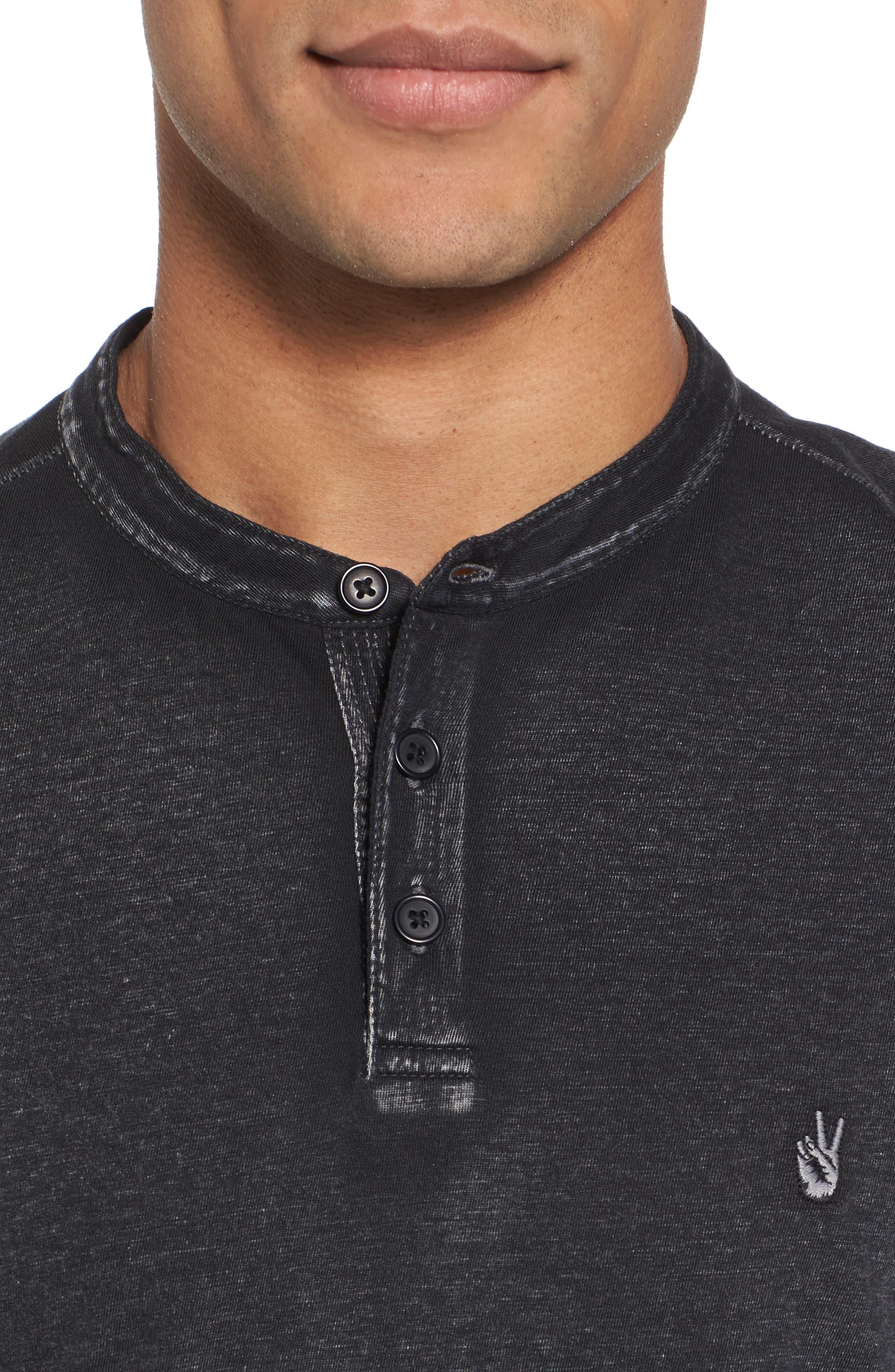 Regular Fit Cotton Henley,                             Alternate thumbnail 4, color,                             020