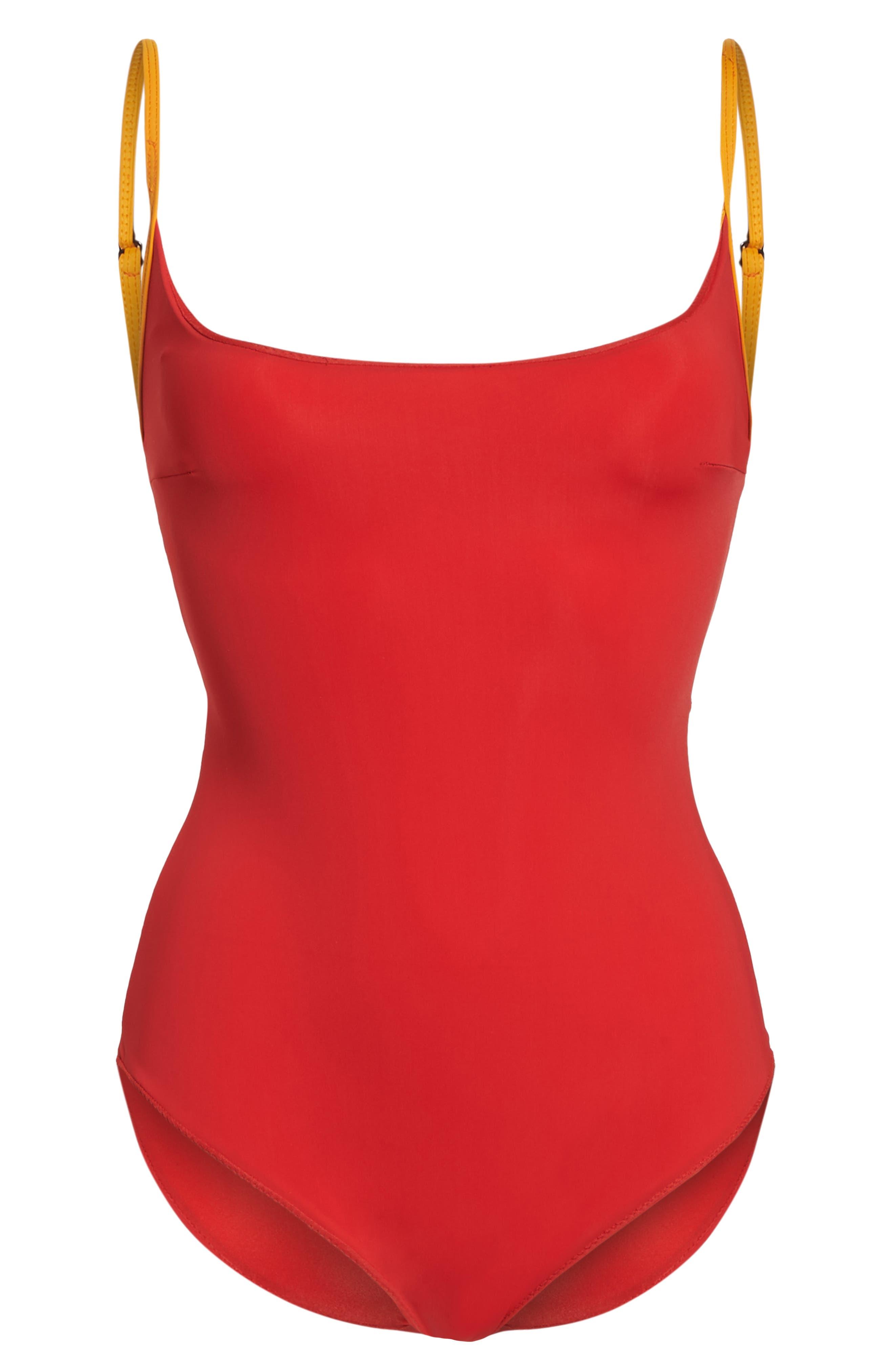 Barrel One-Piece Swimsuit,                             Alternate thumbnail 6, color,                             600
