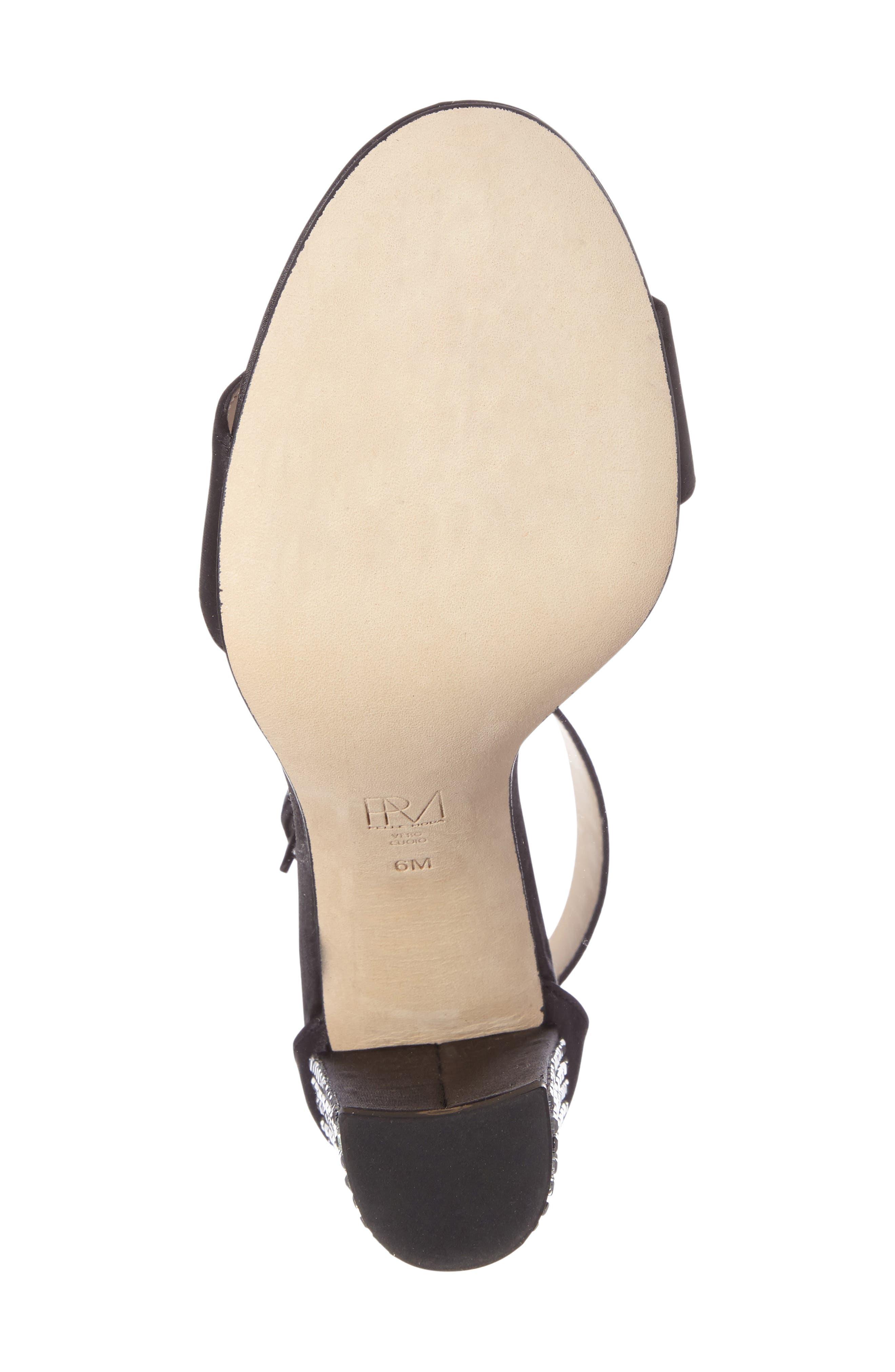 Bonnie 3 Embellished Ankle Strap Sandal,                             Alternate thumbnail 4, color,                             001