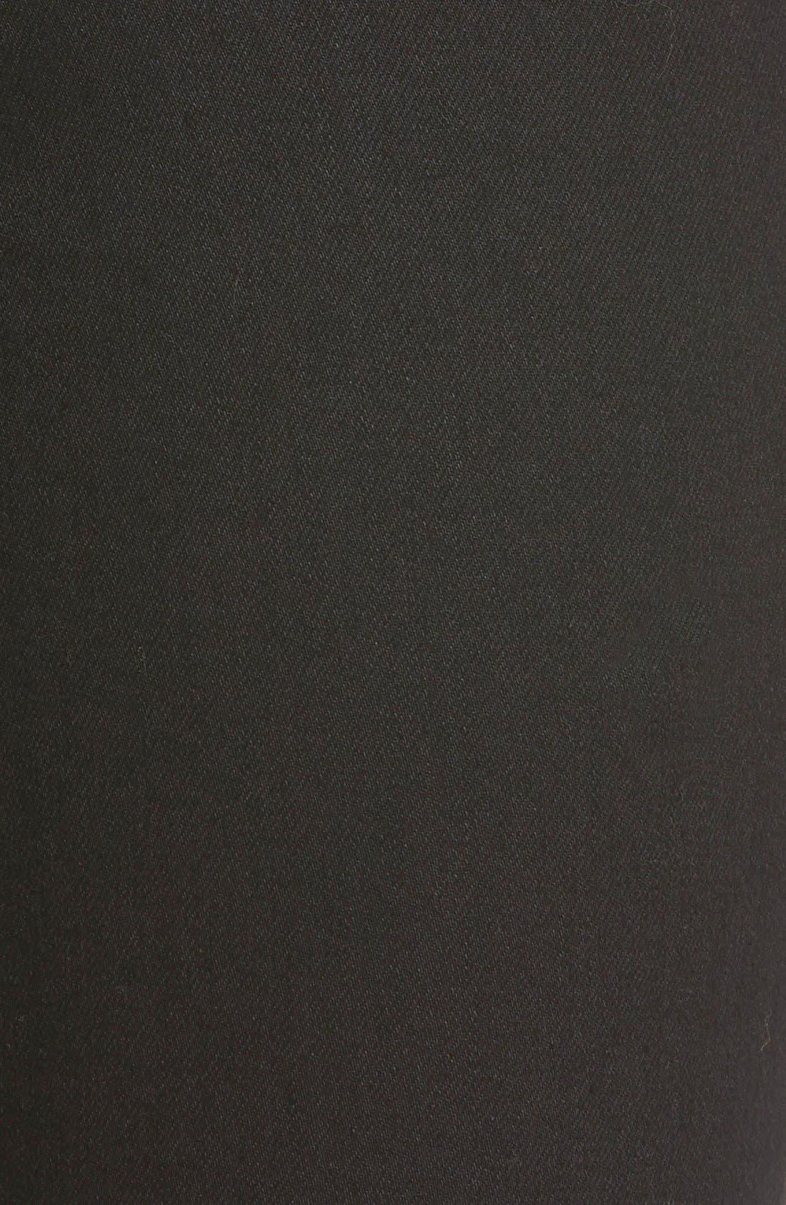 Harper Slim Straight Leg Jeans,                             Alternate thumbnail 6, color,                             OVERDYED BLACK