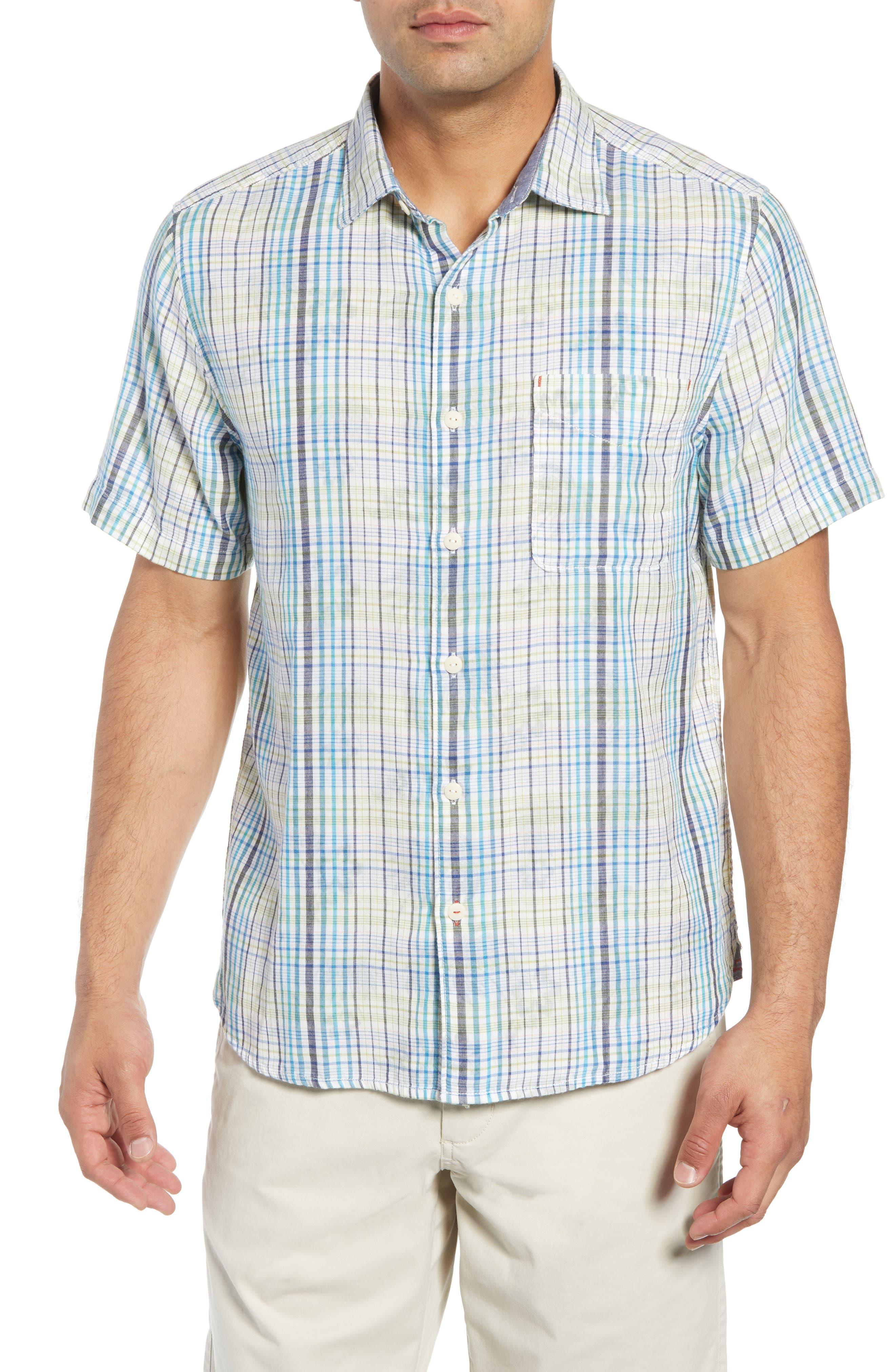 Hideaway Palms Camp Shirt, Main, color, 400