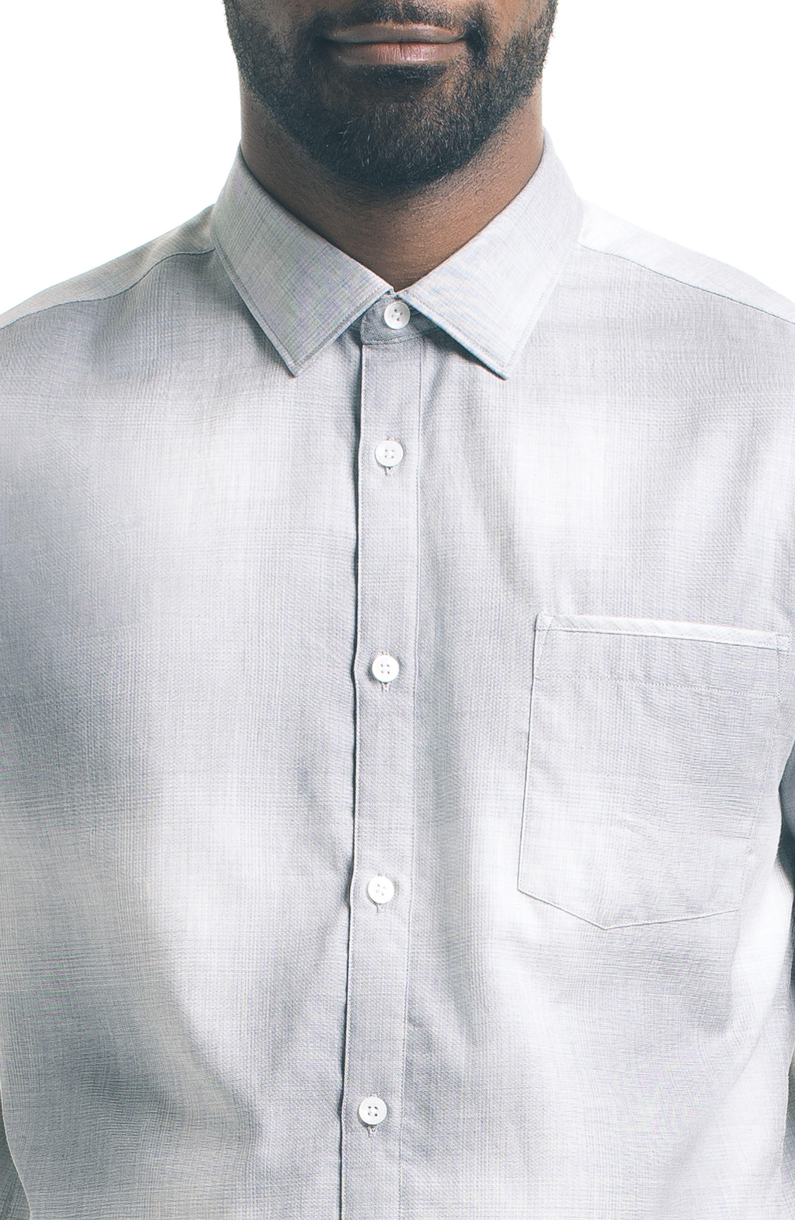 Slim Fit Ombré Check Sport Shirt,                             Alternate thumbnail 4, color,                             020