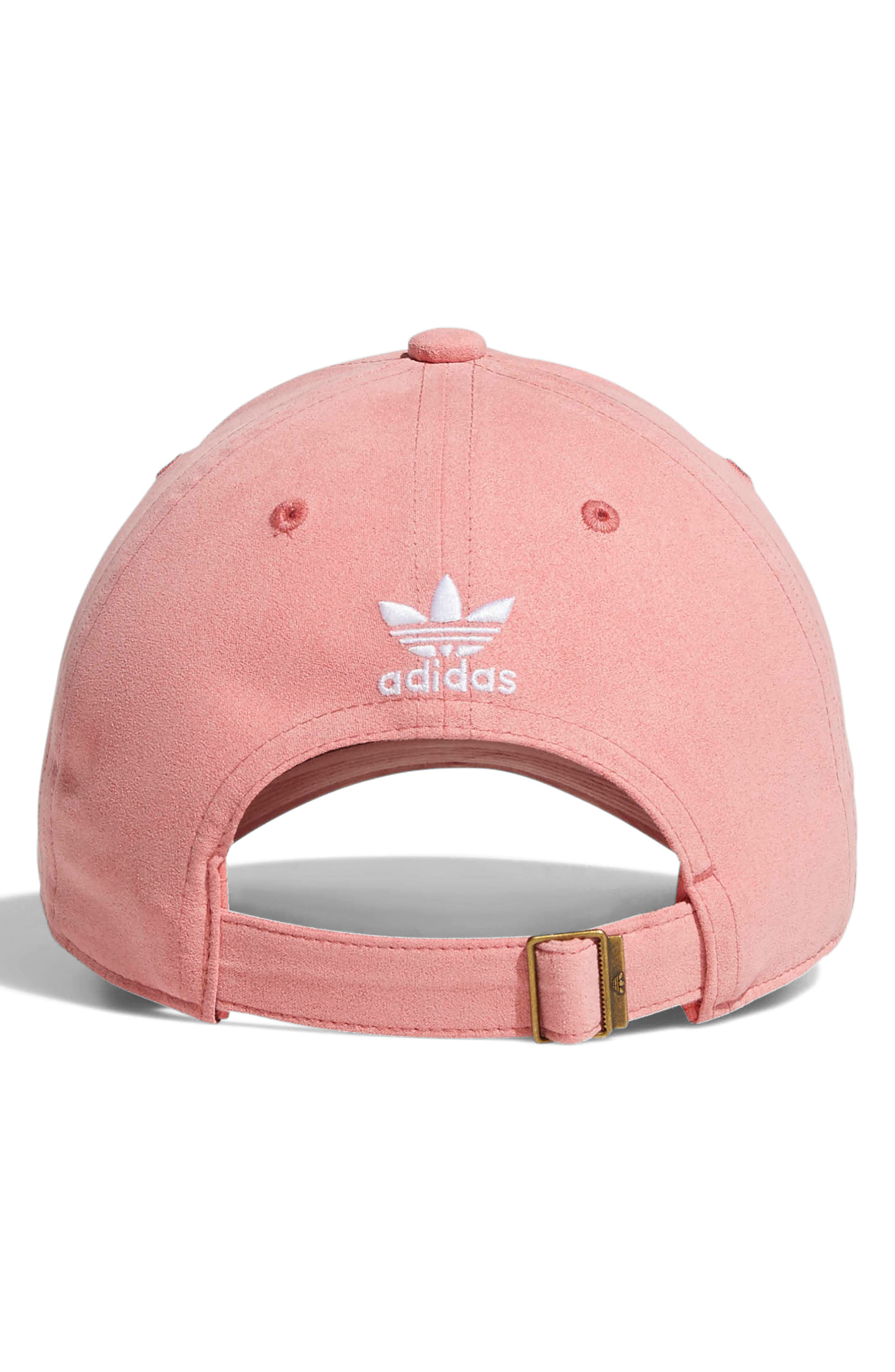 Relaxed Back Strap Cap,                             Alternate thumbnail 3, color,                             TACTILE ROSE/ WHITE
