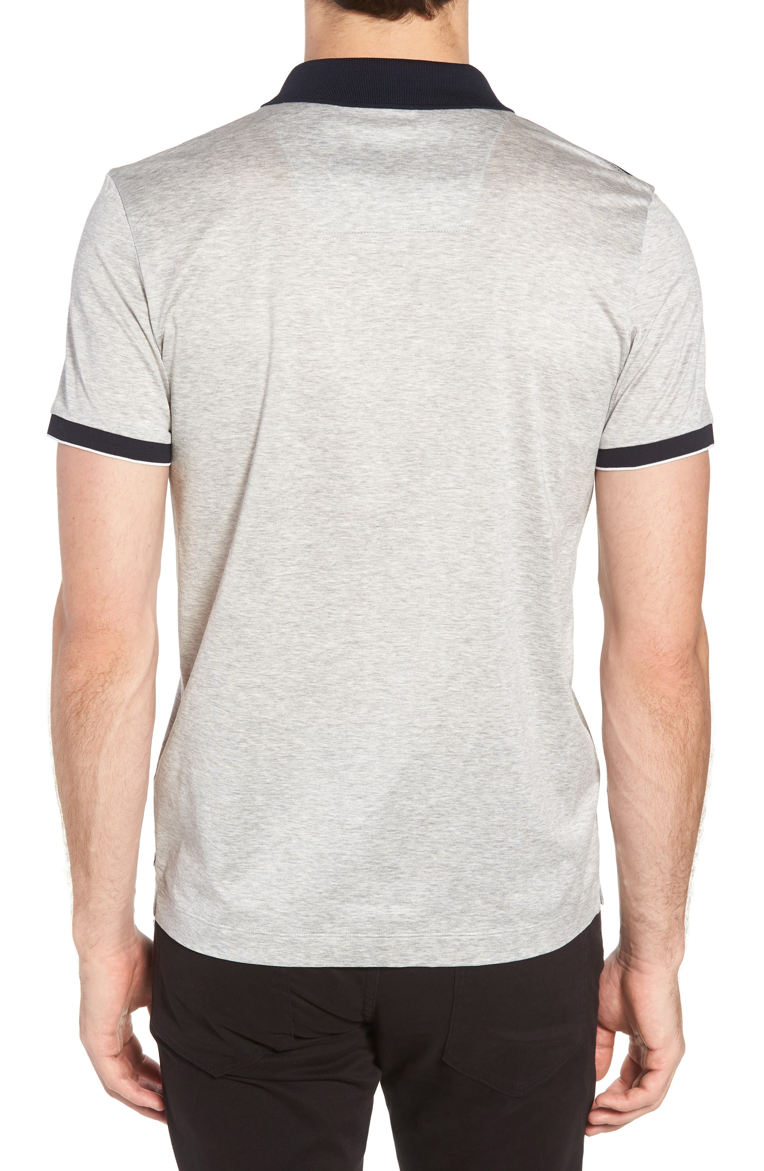 Slim Fit Phillipson Polo,                             Alternate thumbnail 2, color,                             GREY