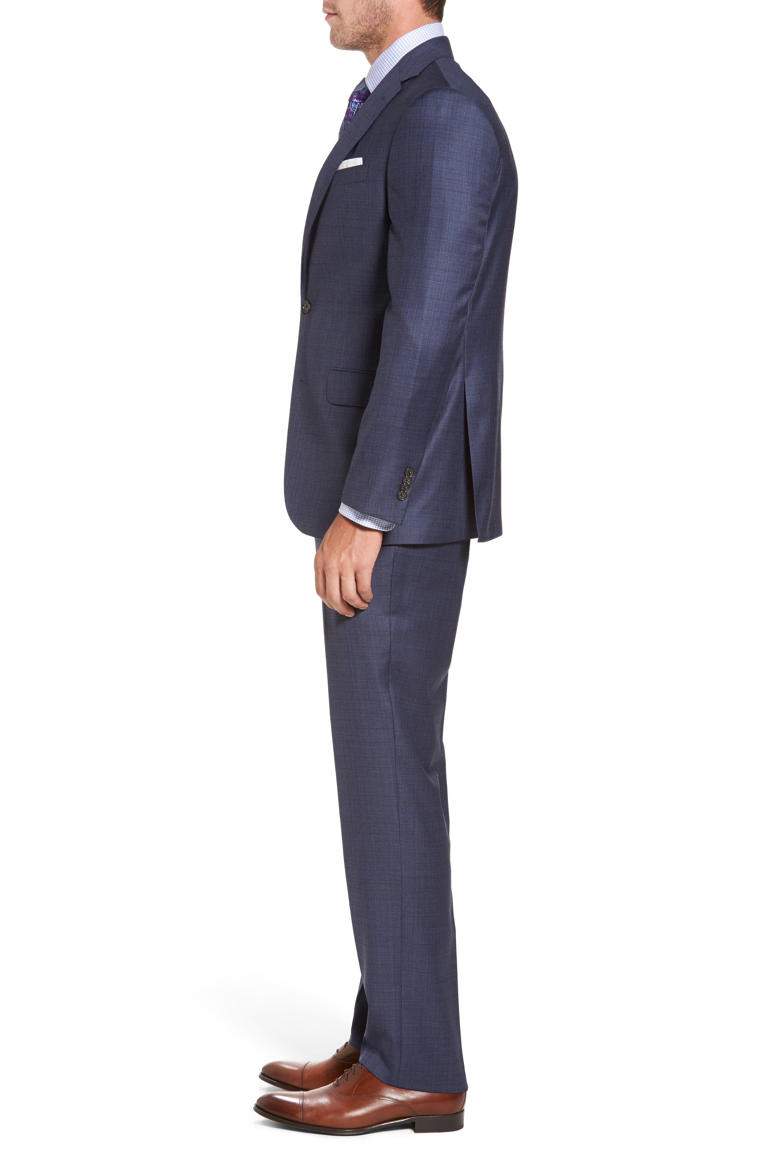 Ryan Classic Fit Check Wool Suit,                             Alternate thumbnail 3, color,                             420