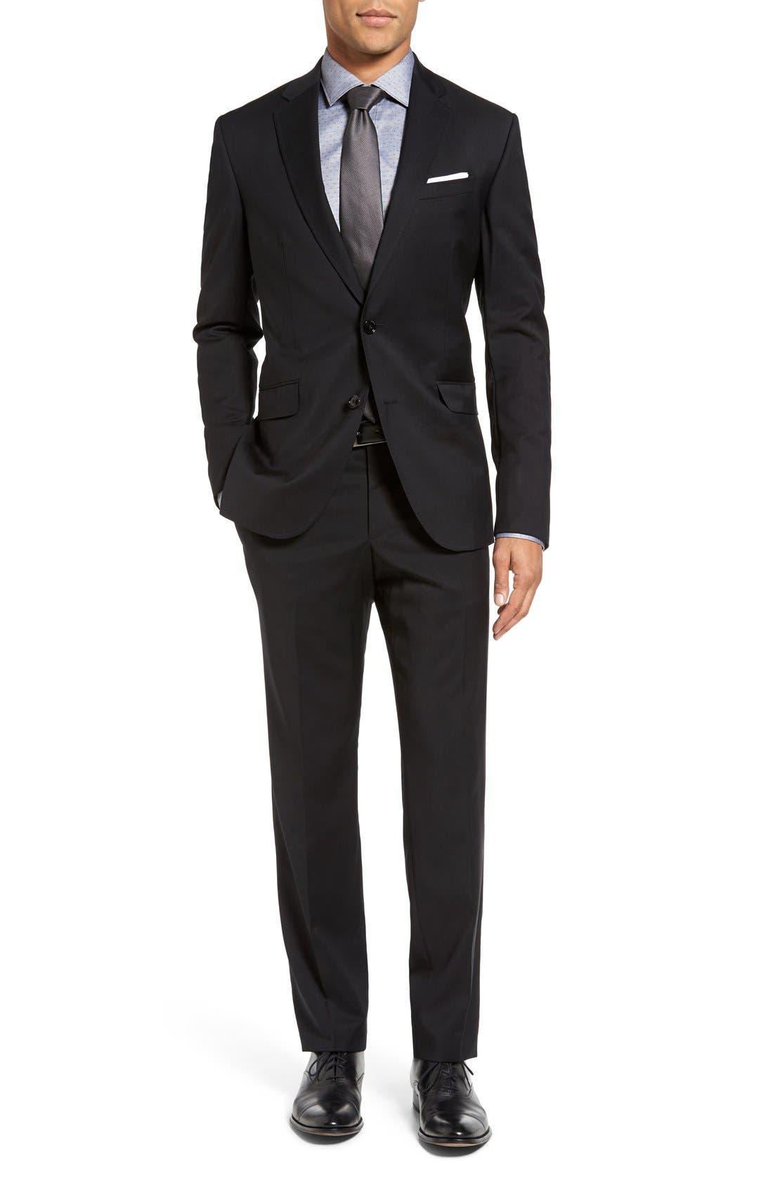 Jones Trim Fit Wool Suit,                         Main,                         color,