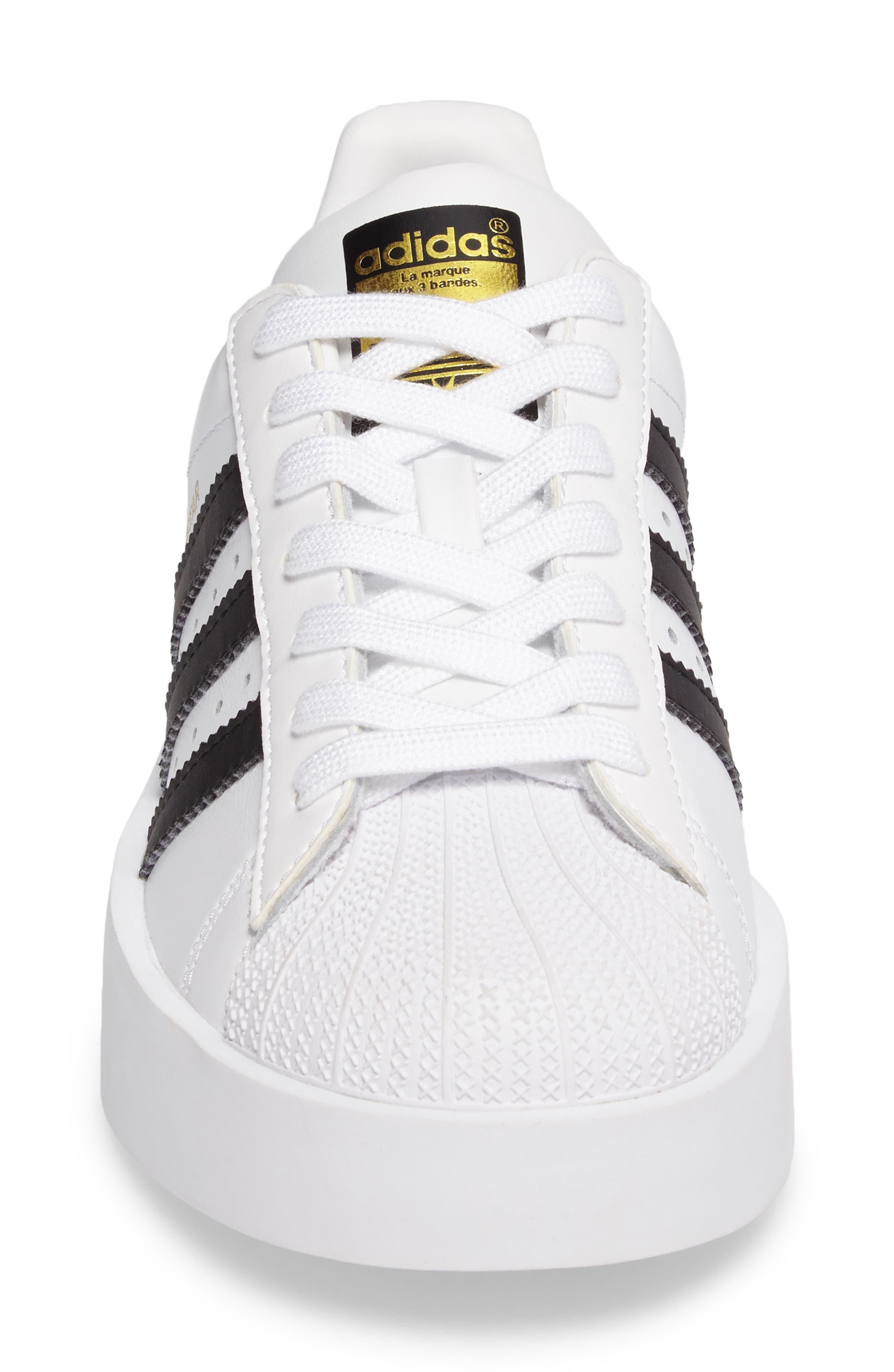 Superstar Bold Platform Sneaker,                             Alternate thumbnail 4, color,                             100