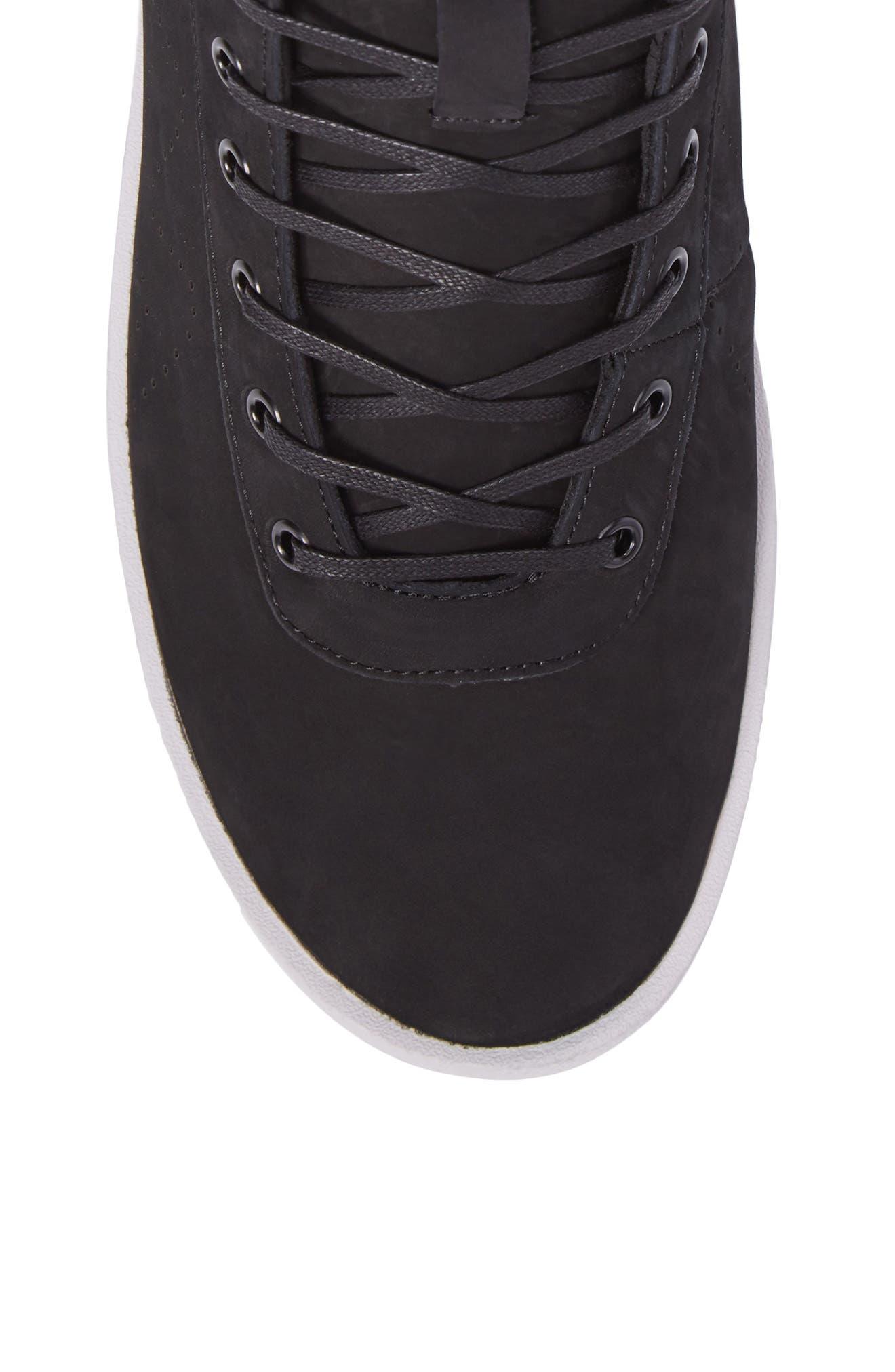 Highlander High Top Sneaker,                             Alternate thumbnail 5, color,                             001