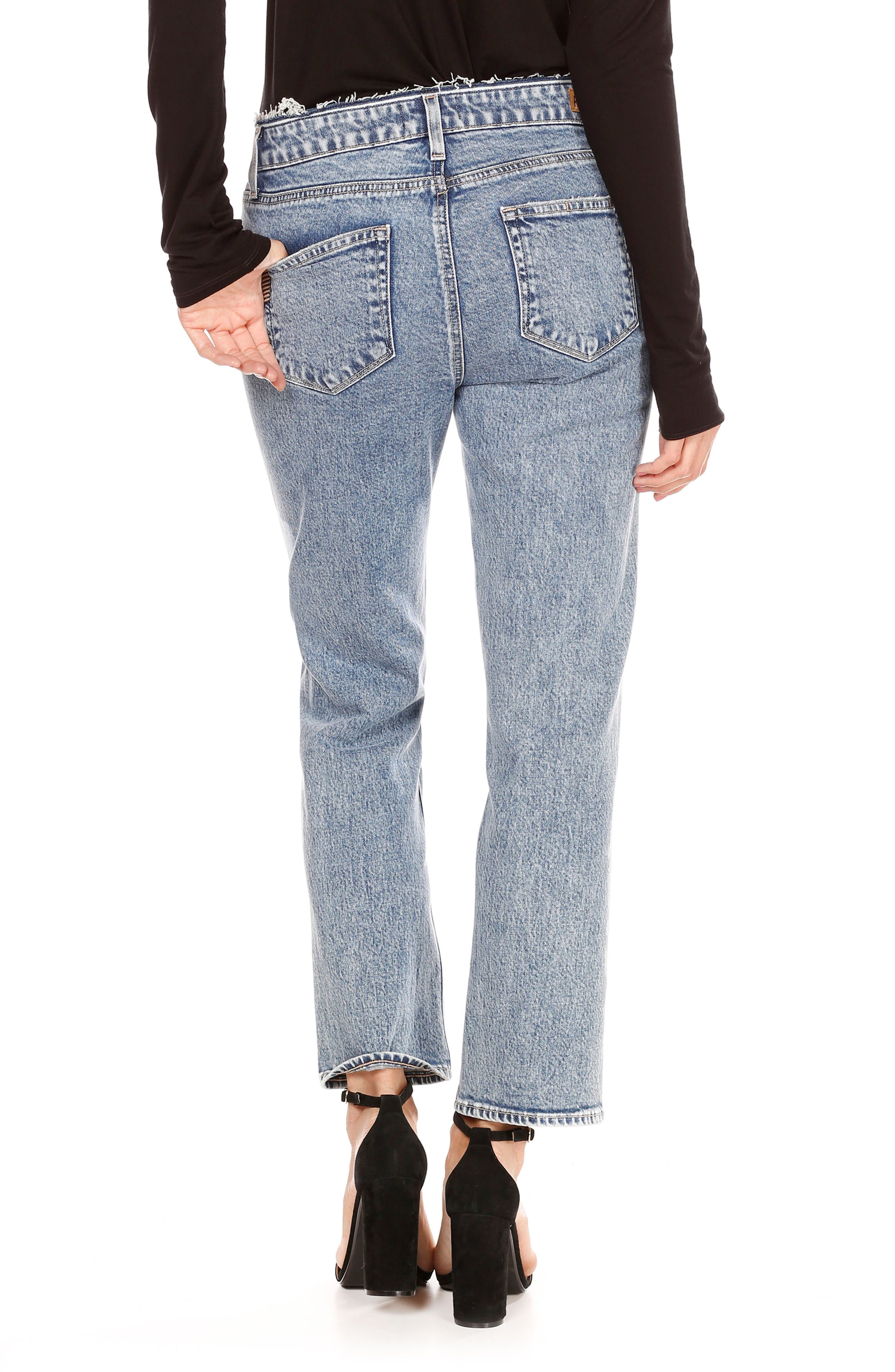 Transcend Vintage - Noella Crop Straight Leg Jeans,                             Alternate thumbnail 2, color,                             400