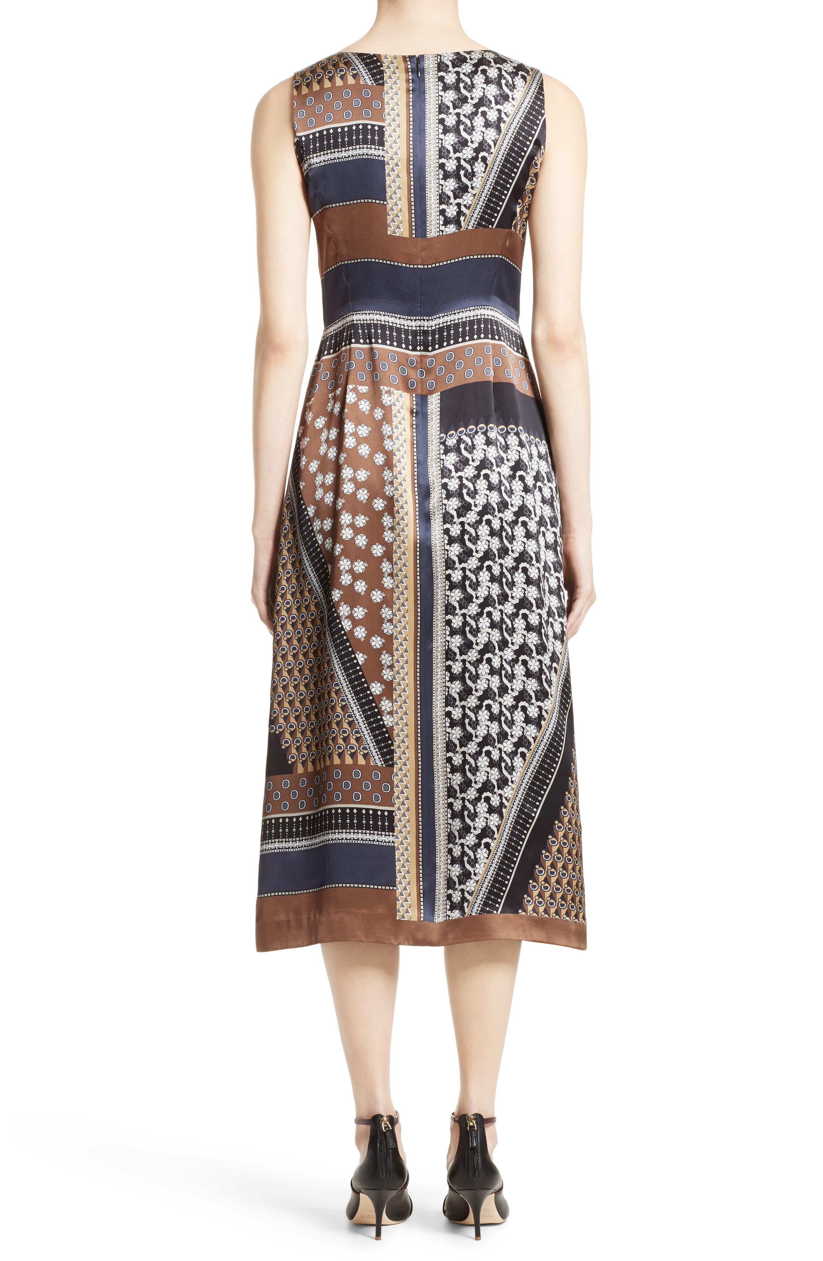 Sebella Silk Midi Dress,                             Alternate thumbnail 2, color,                             200