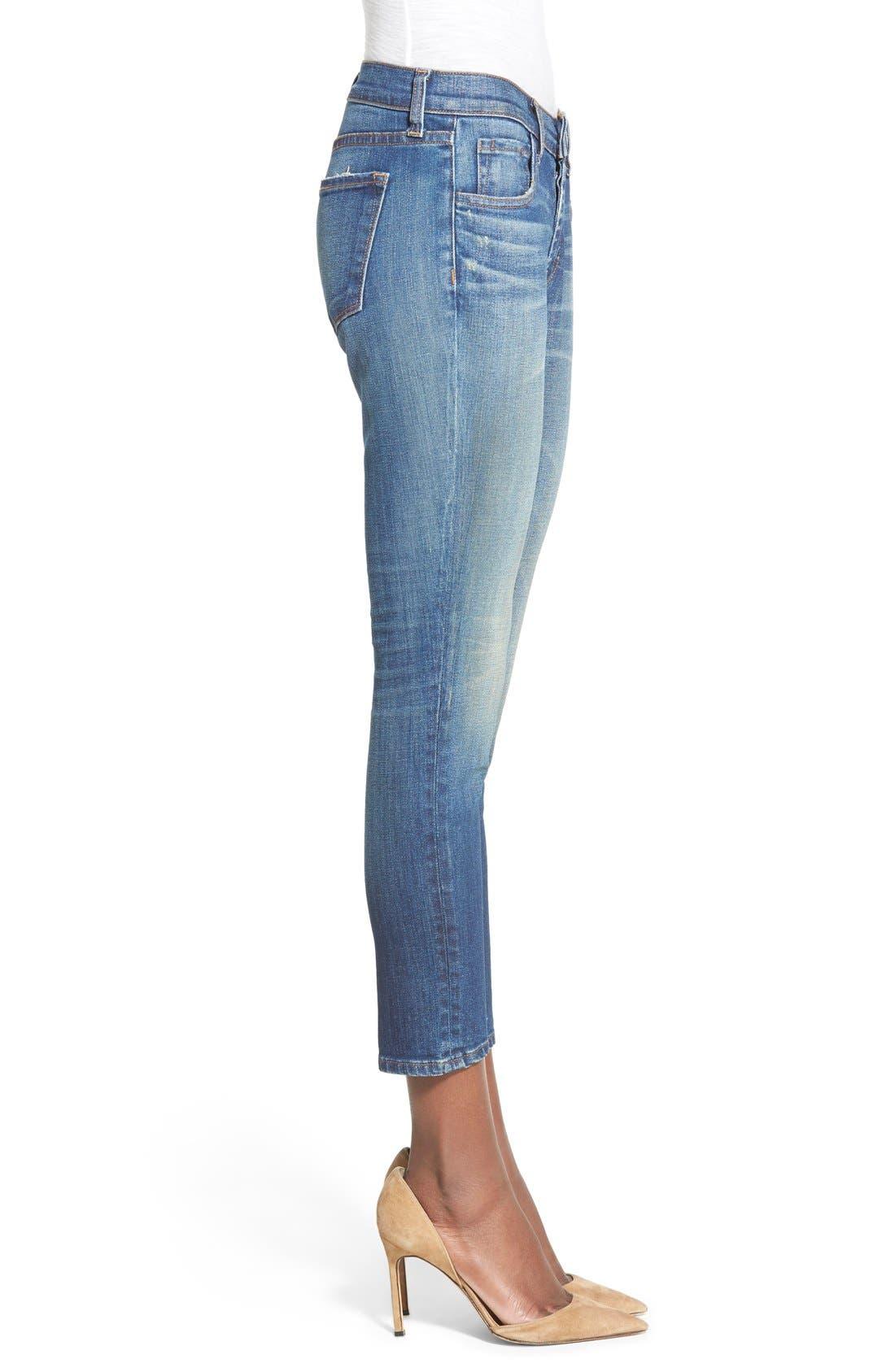 'Sadey' Slim Straight Crop Jeans,                             Alternate thumbnail 3, color,