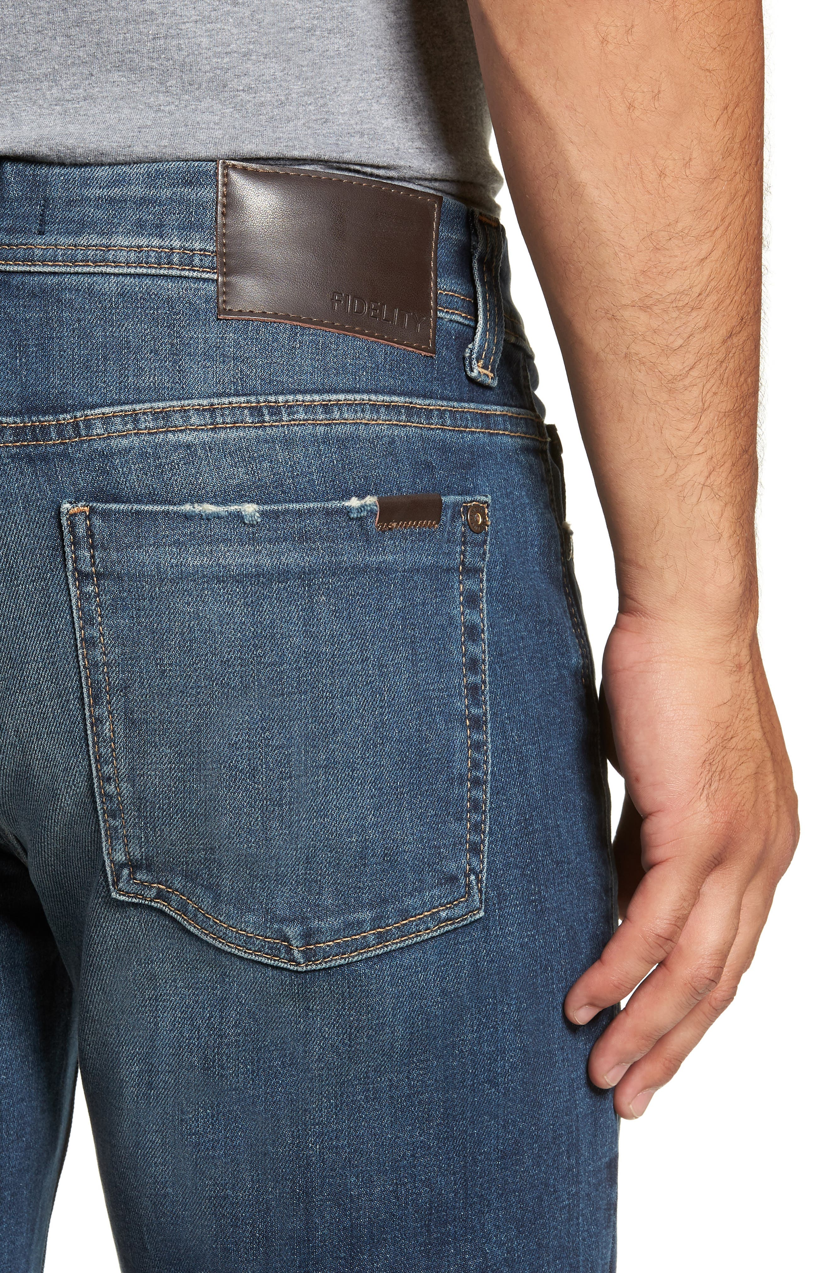 50-11 Relaxed Fit Jeans,                             Alternate thumbnail 4, color,                             GTO VINTAGE