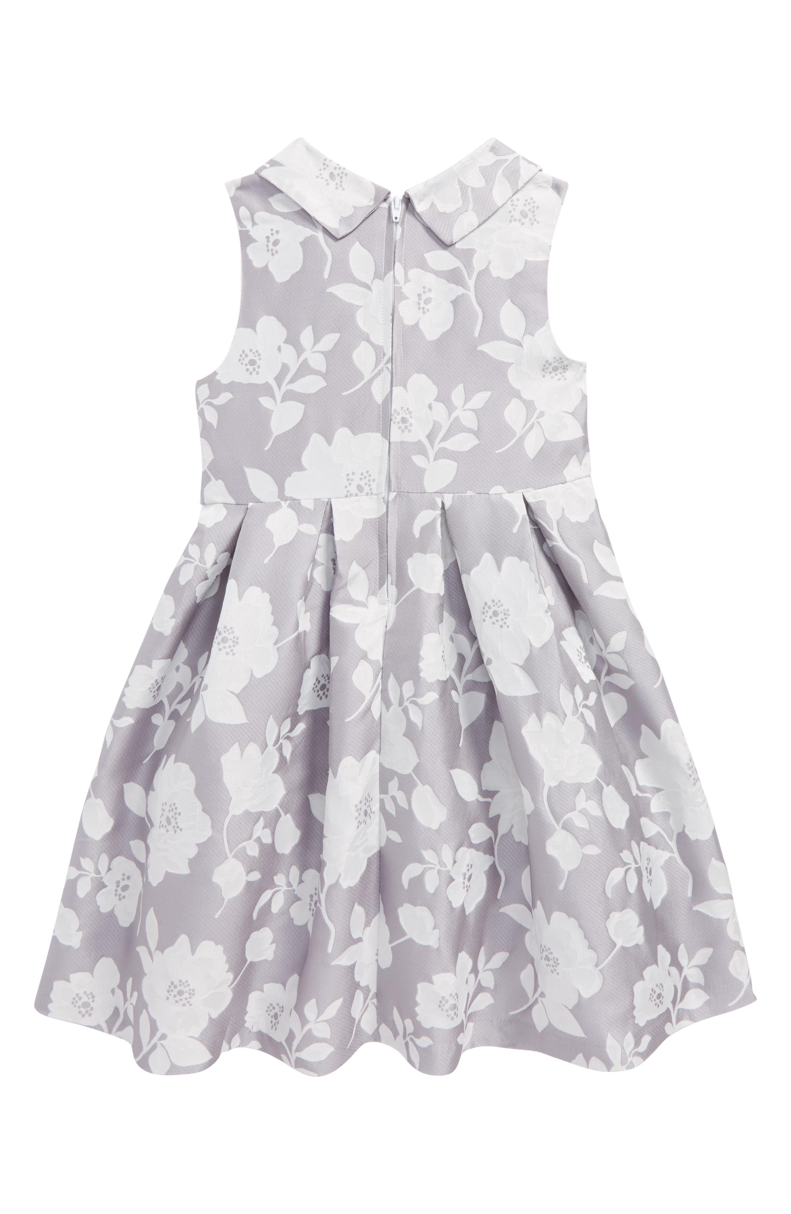 Floral Jacquard Dress,                             Alternate thumbnail 2, color,                             020