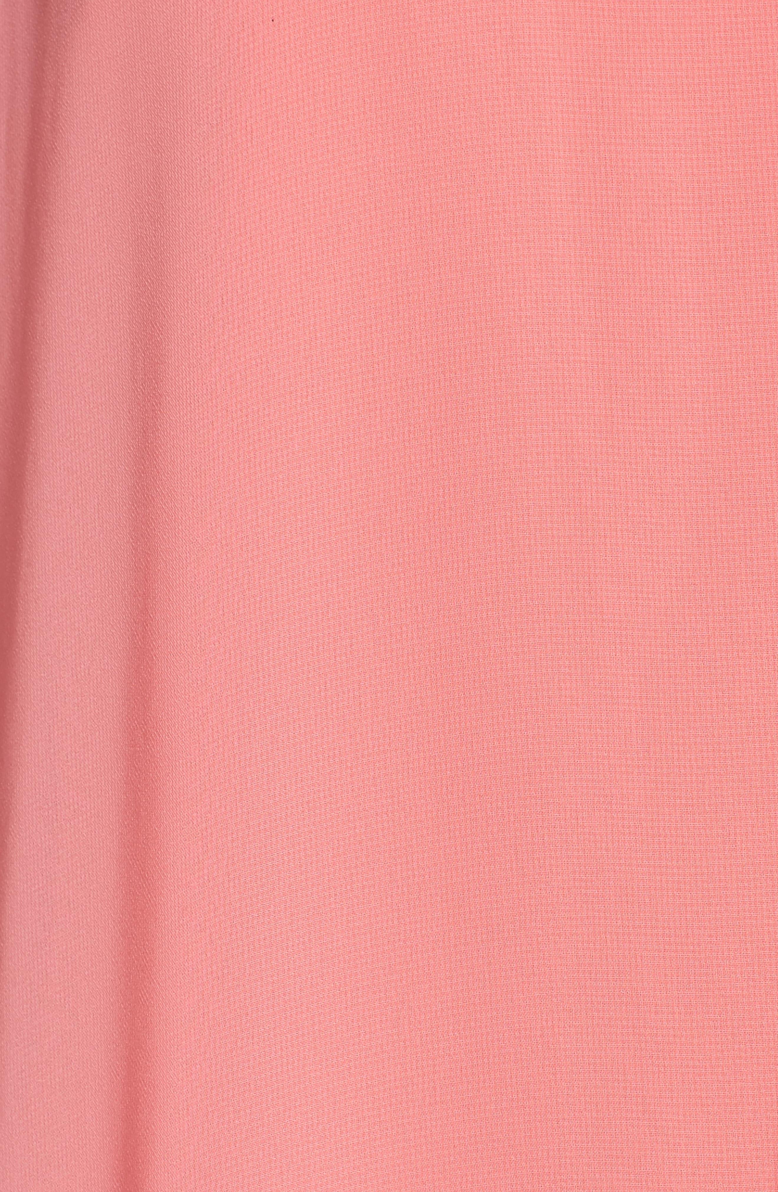 Embellished Chiffon Overlay A-Line Dress,                             Alternate thumbnail 5, color,                             651