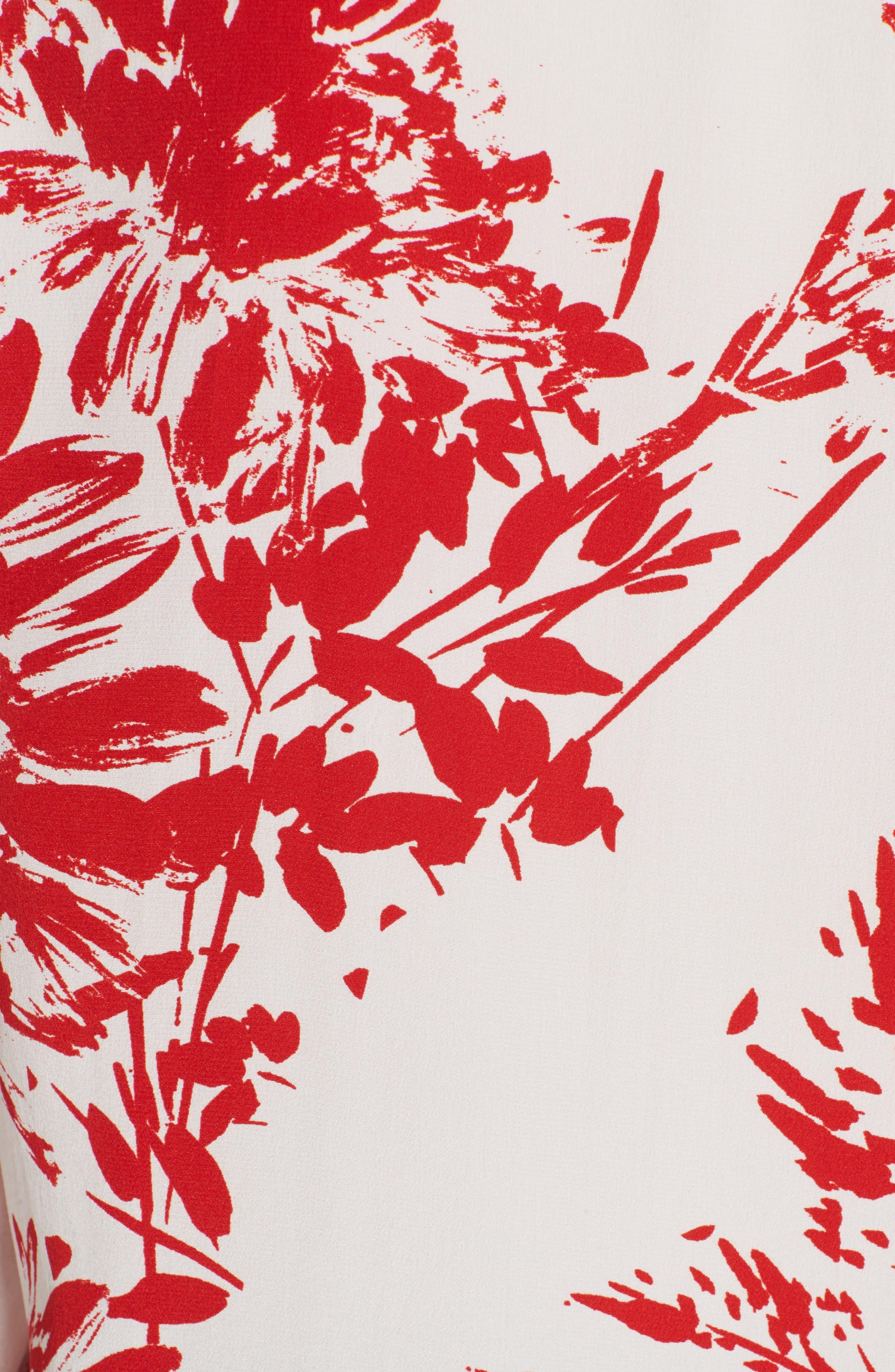 Brett Silk Blend Shirt,                             Alternate thumbnail 5, color,                             NATURAL WHITE BLOOD MOON