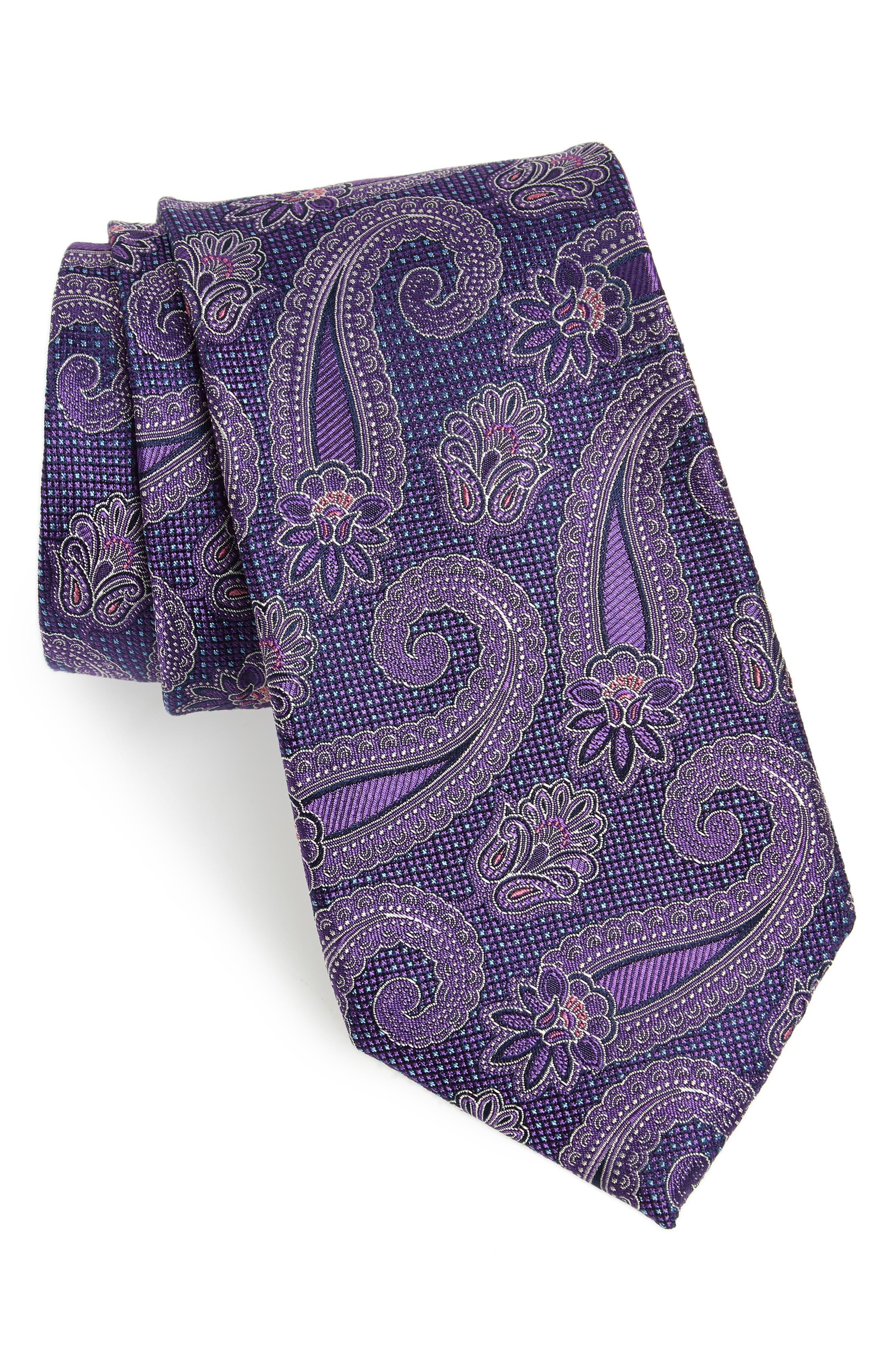 Emery Paisley Silk Tie,                             Main thumbnail 3, color,
