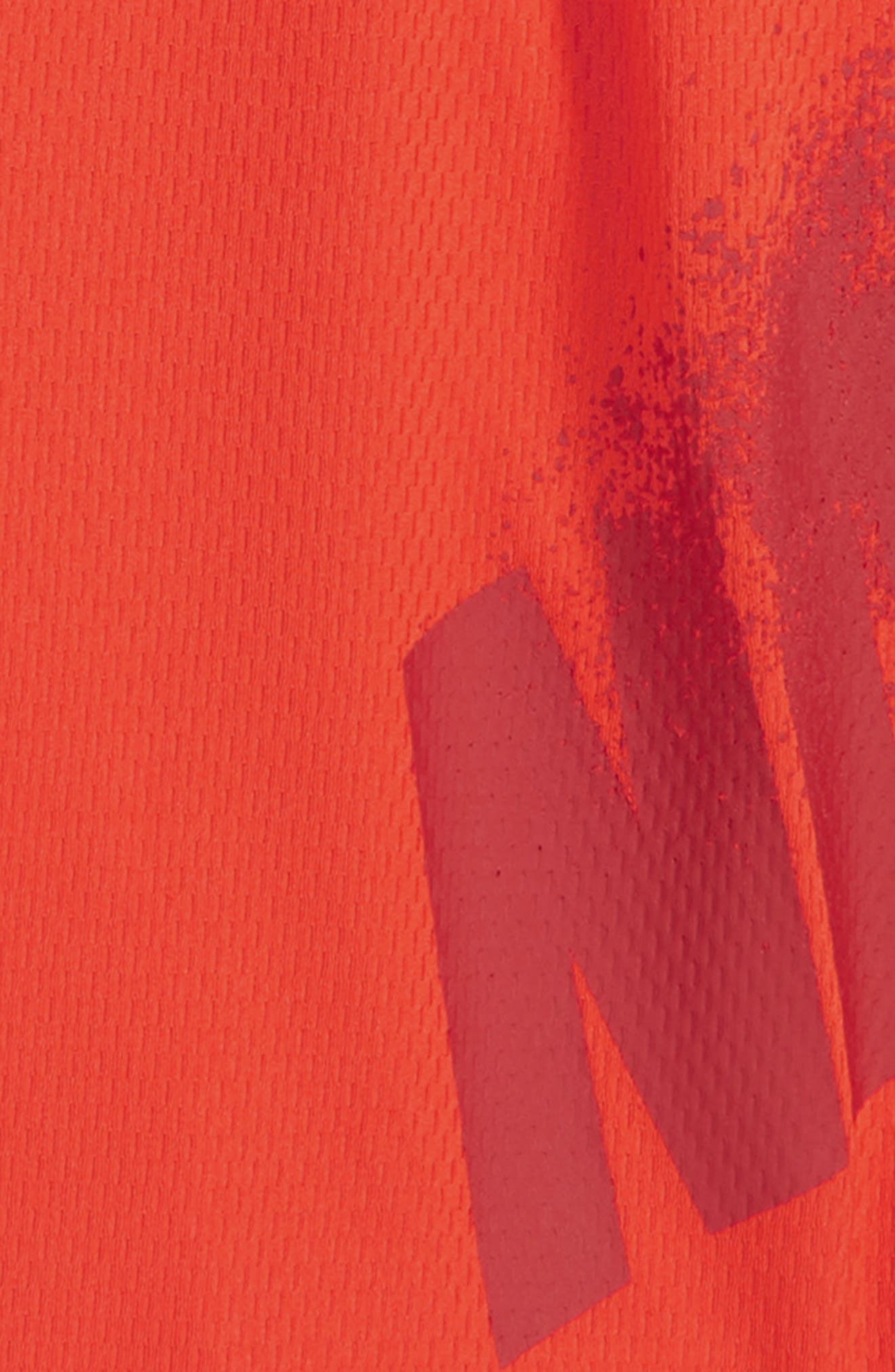 Dry GFX Athletic Shorts,                             Alternate thumbnail 2, color,                             HABANERO RED/ GYM RED
