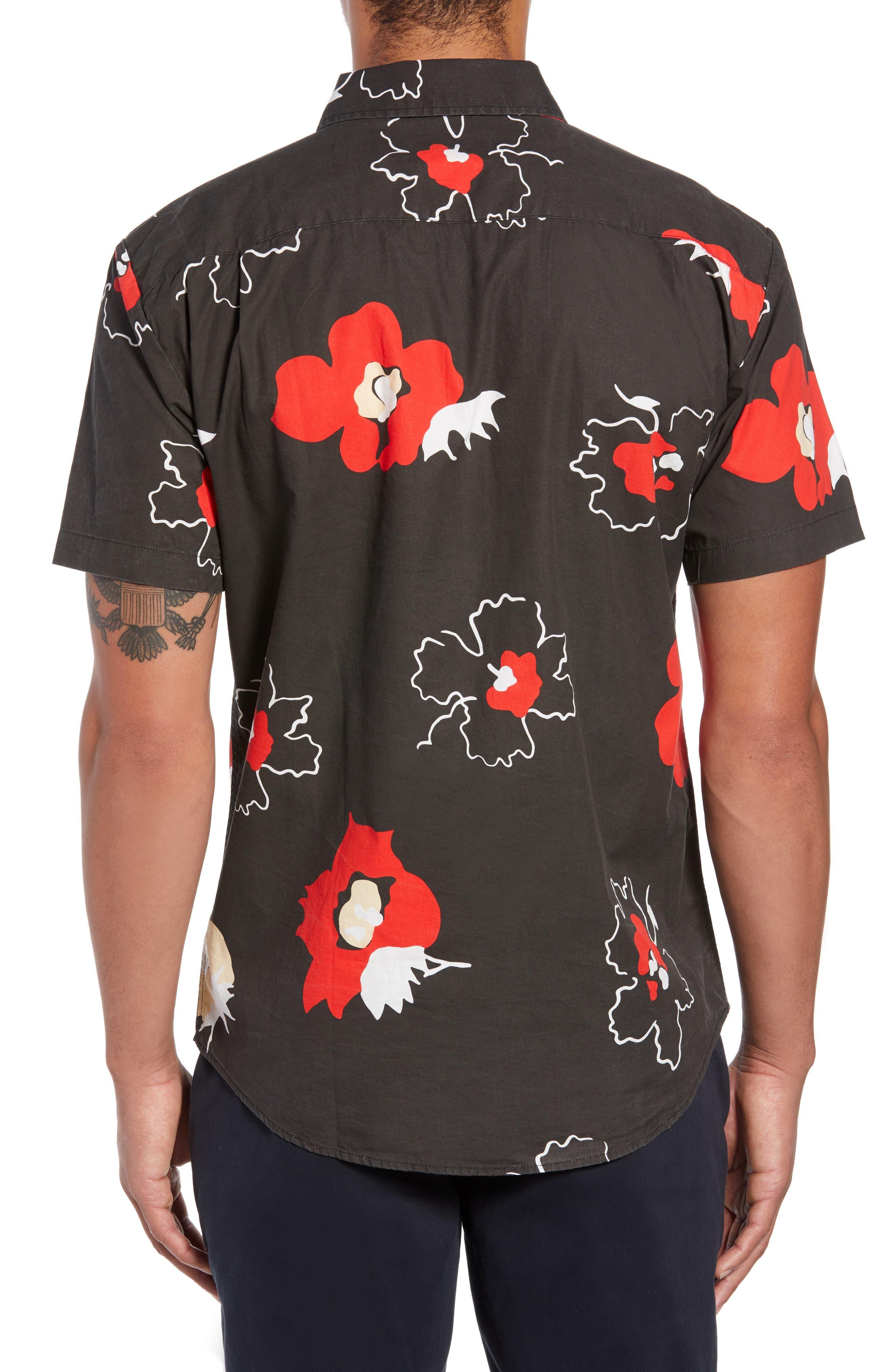 Charter Print Woven Shirt,                             Alternate thumbnail 2, color,                             001