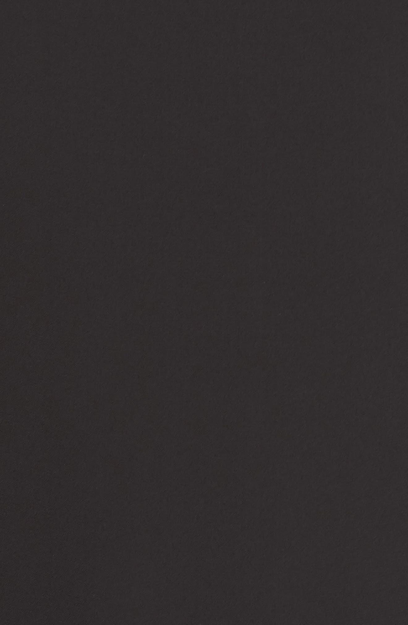 Bell Sleeve Dress,                             Alternate thumbnail 6, color,                             BLACK