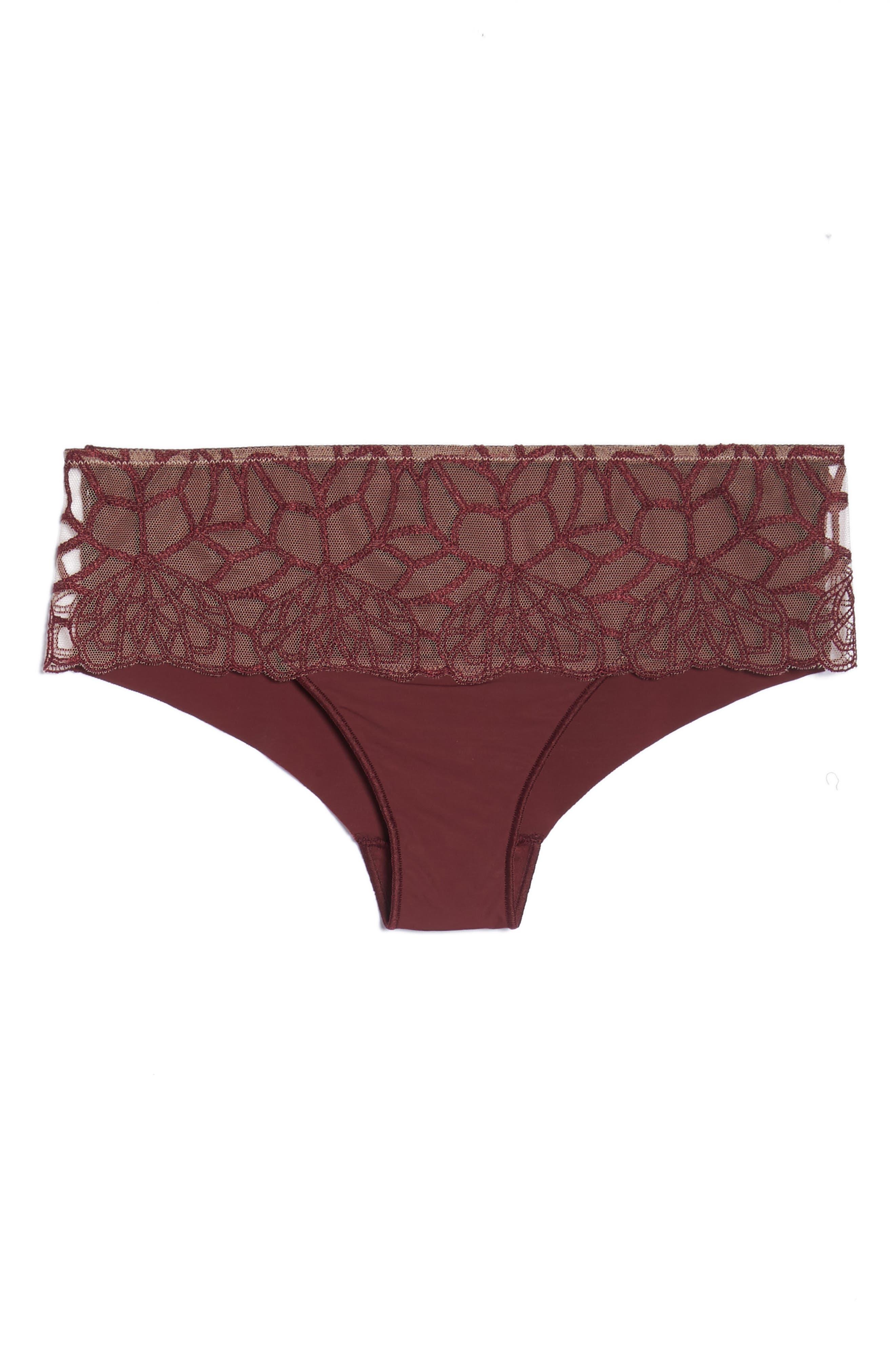 Java Hipster Panties,                             Alternate thumbnail 6, color,                             HENNA